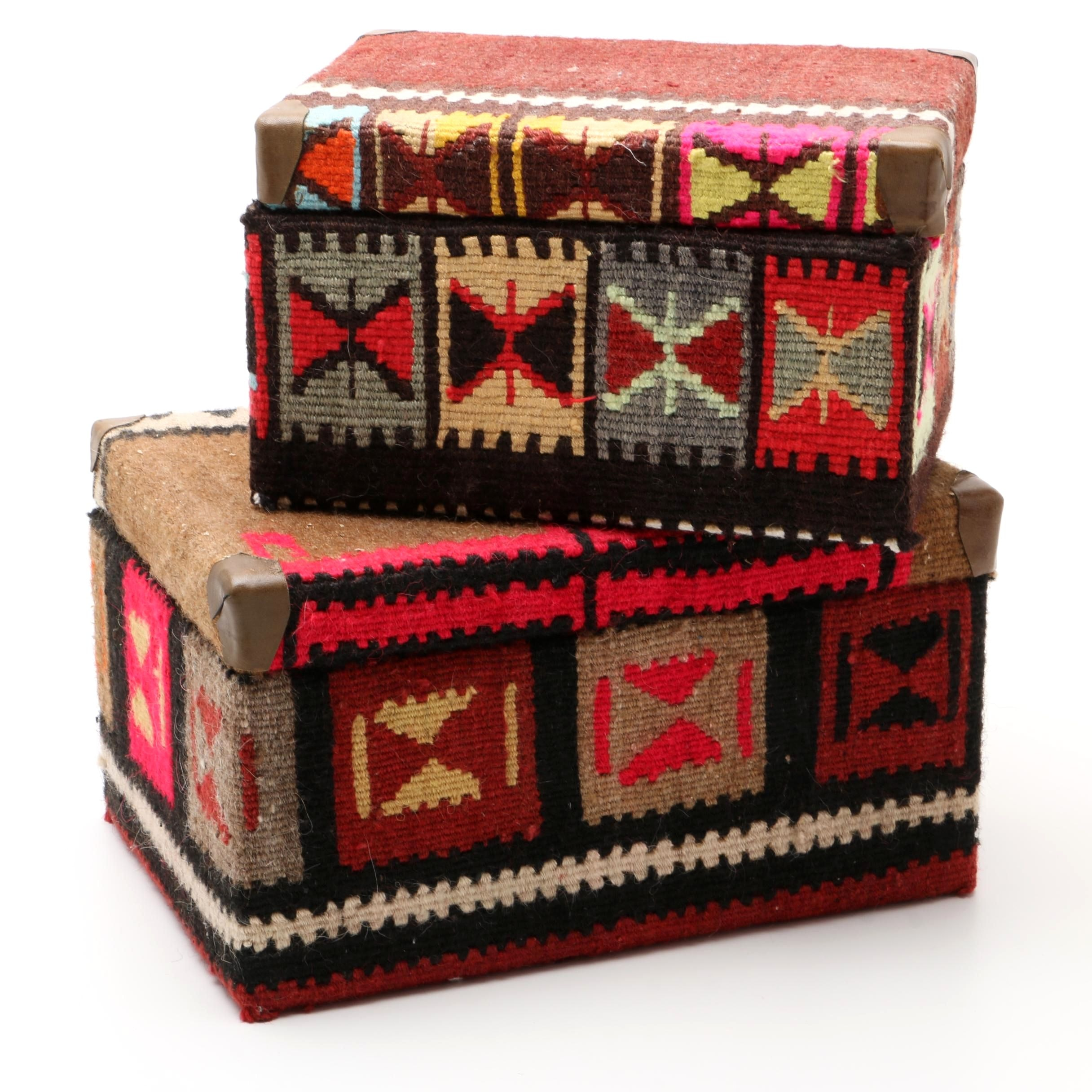 Handwoven Kilim Wrapped Boxes