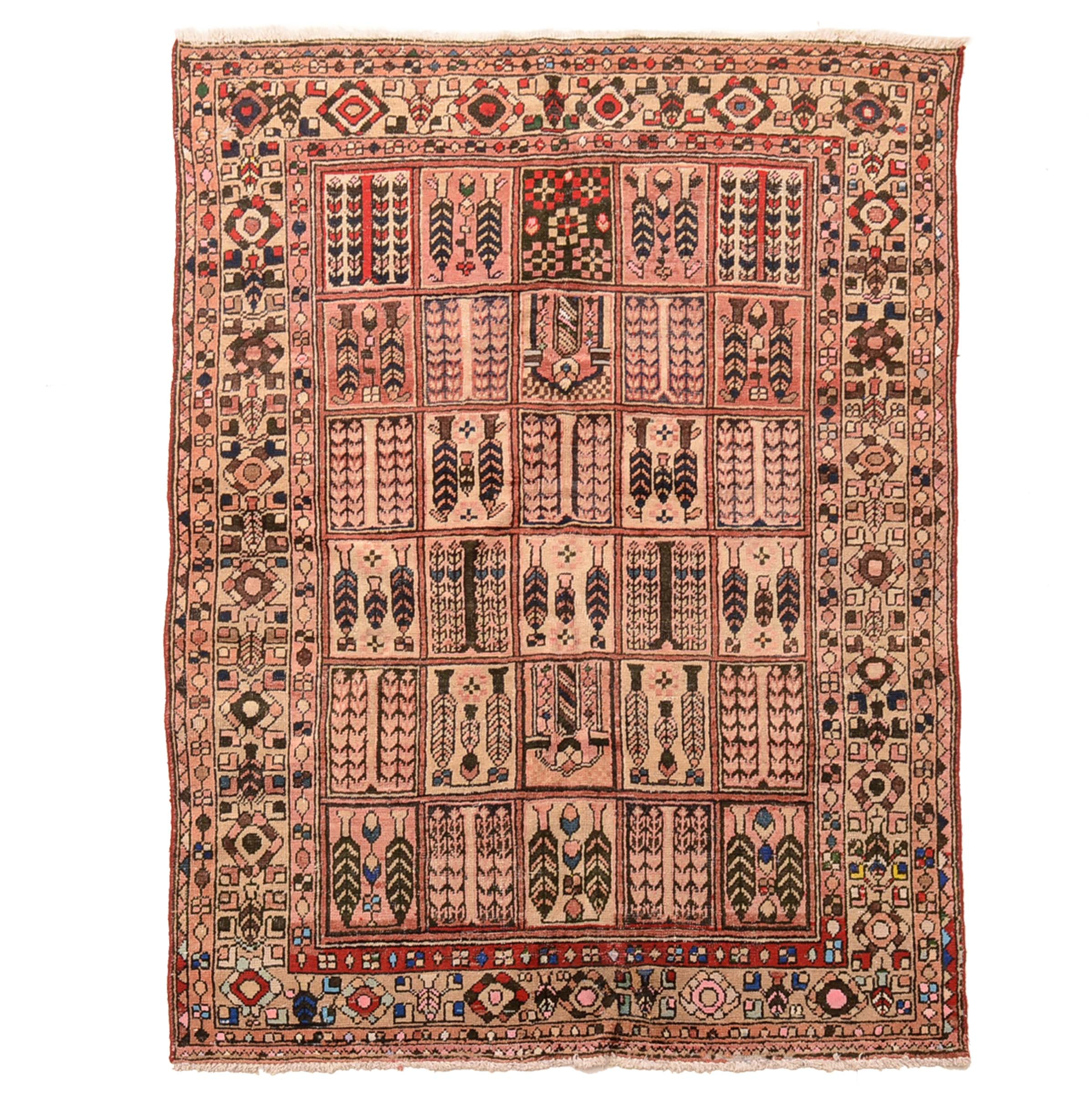 "Hand-Knotted Bahktiari ""Garden Panel"" Area Rug"
