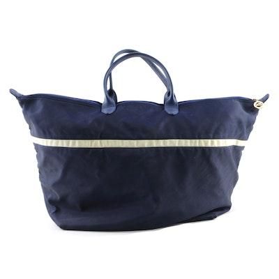 bf851f5248c7 Vintage Longchamp of Paris Navy Nylon and Leather Tote