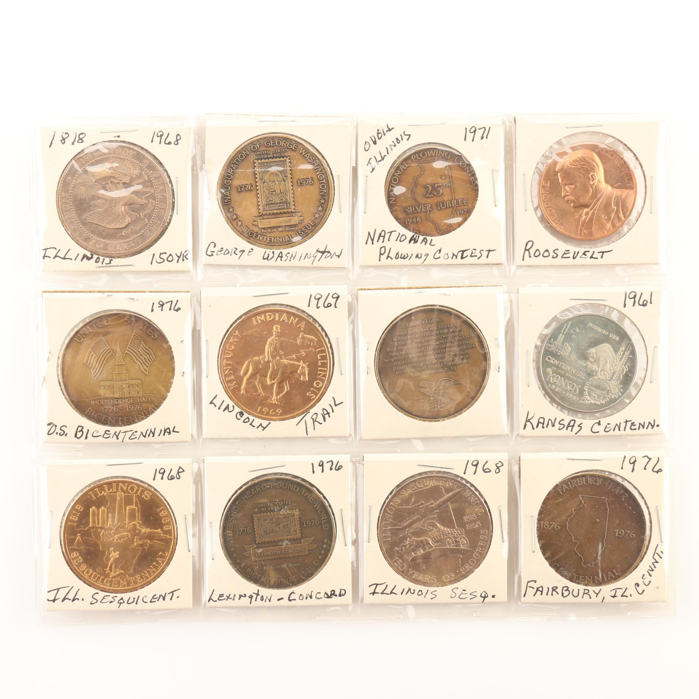 Group of Twelve Various Commemorative Medals