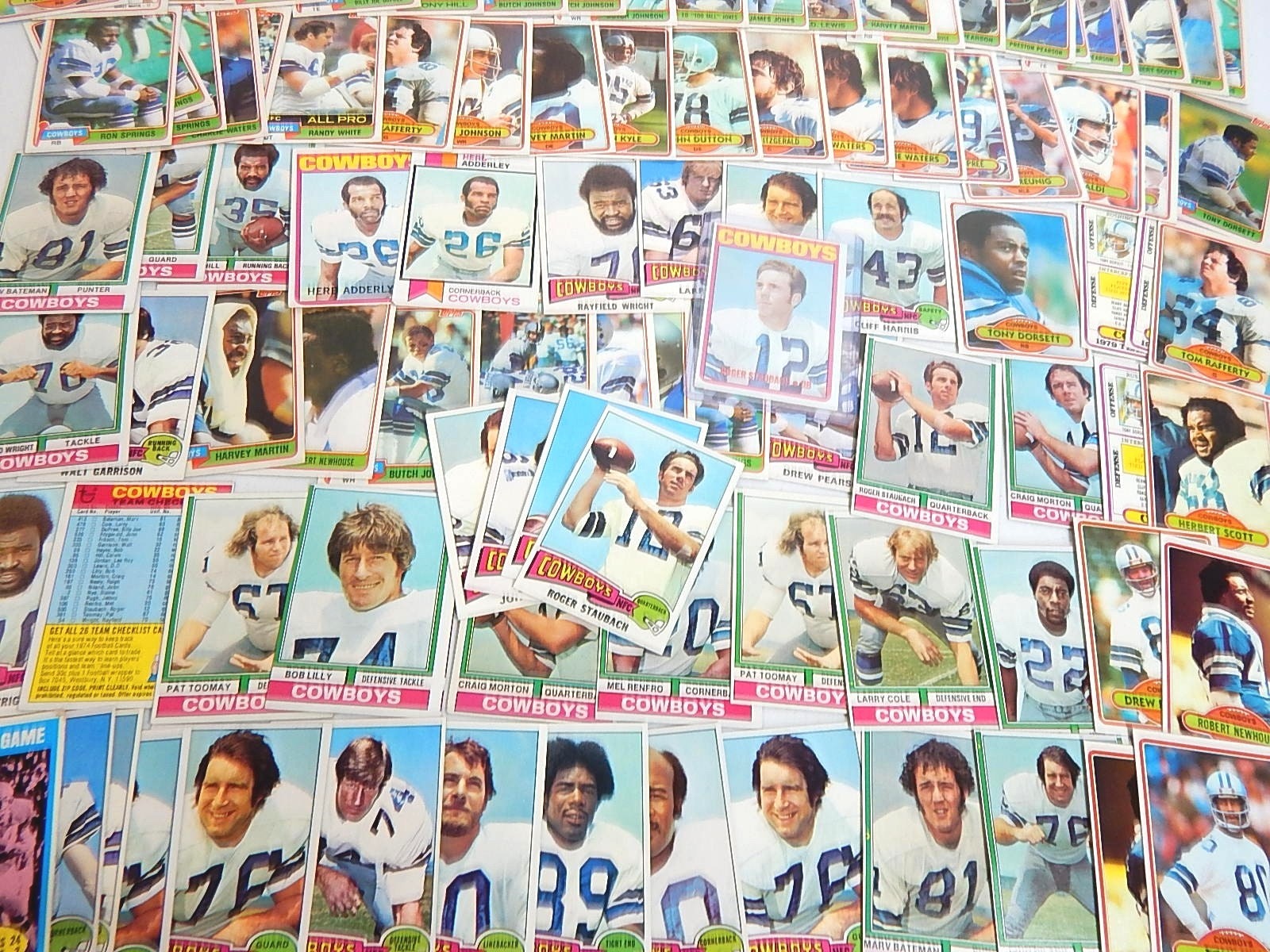 Large 1970s to Early 1980s Topps Dallas Cowboy Football Card Collection