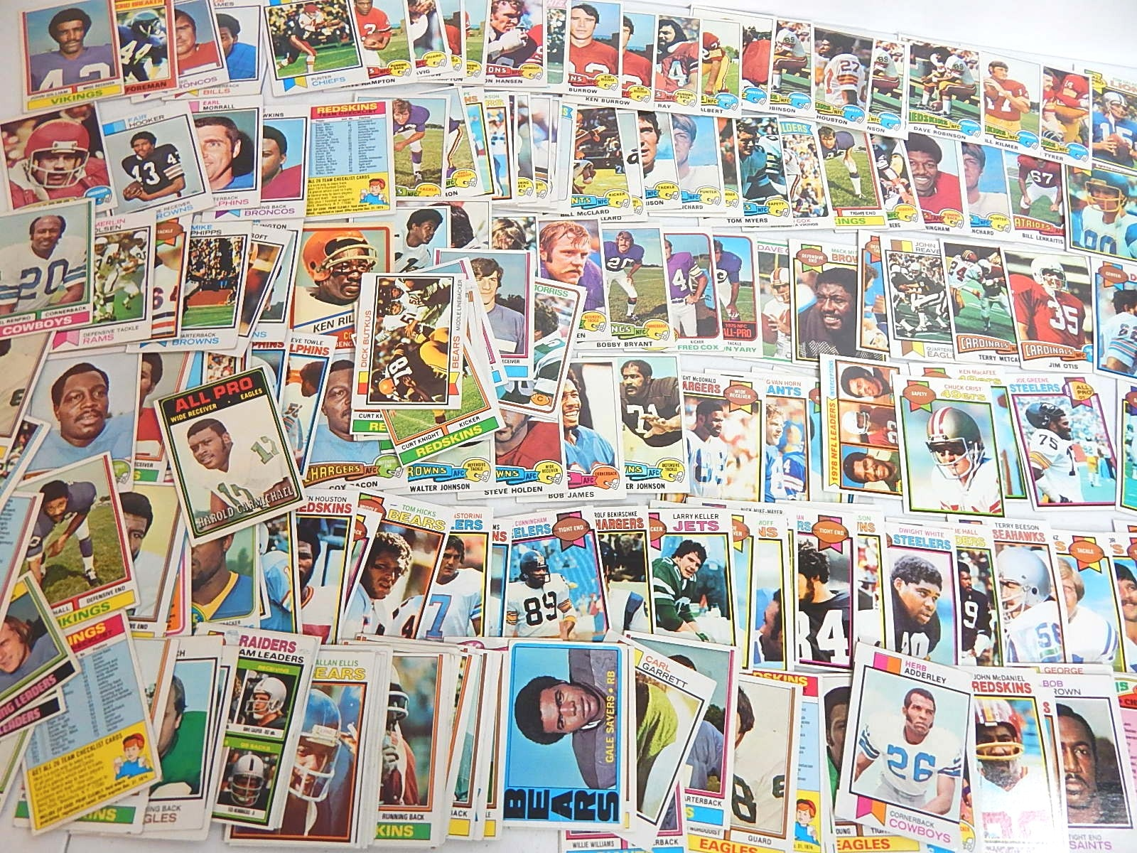 Vintage Football Card Collection from the 1970s - 200 Card Count
