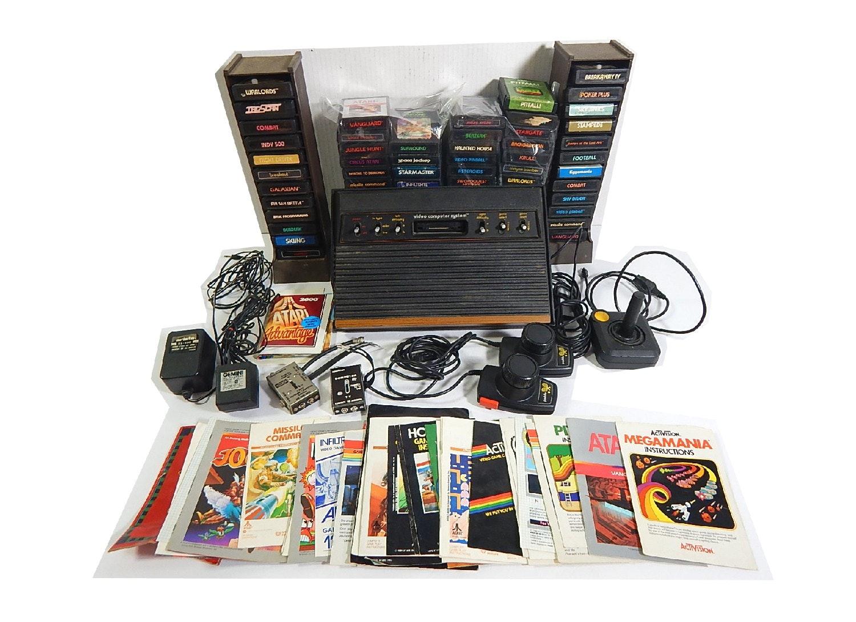 Atari CX-2600 Game Console, 57 Games, Controllers