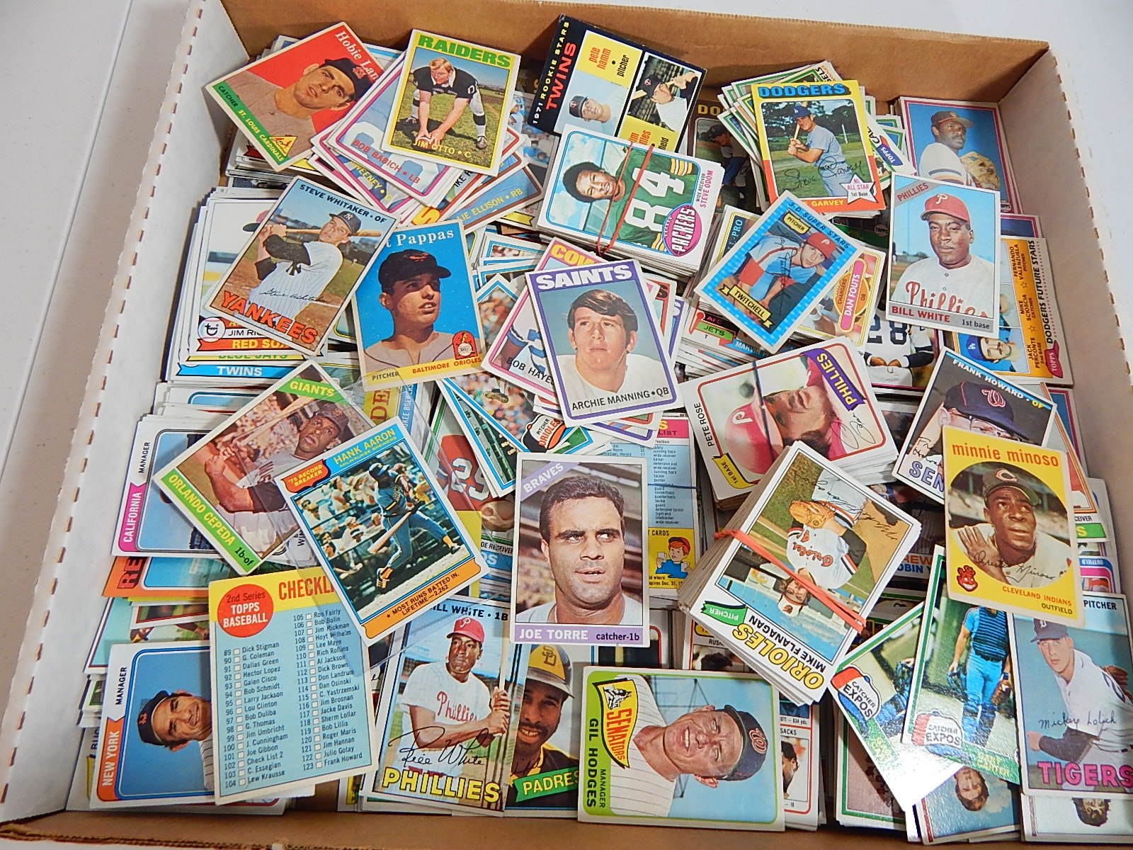 Collection of Mostly 1970s Baseball and Football Cards