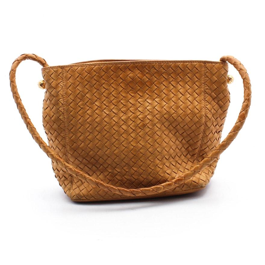 Bottega Veneta Tan Woven Leather Handbag cde3e767b3788