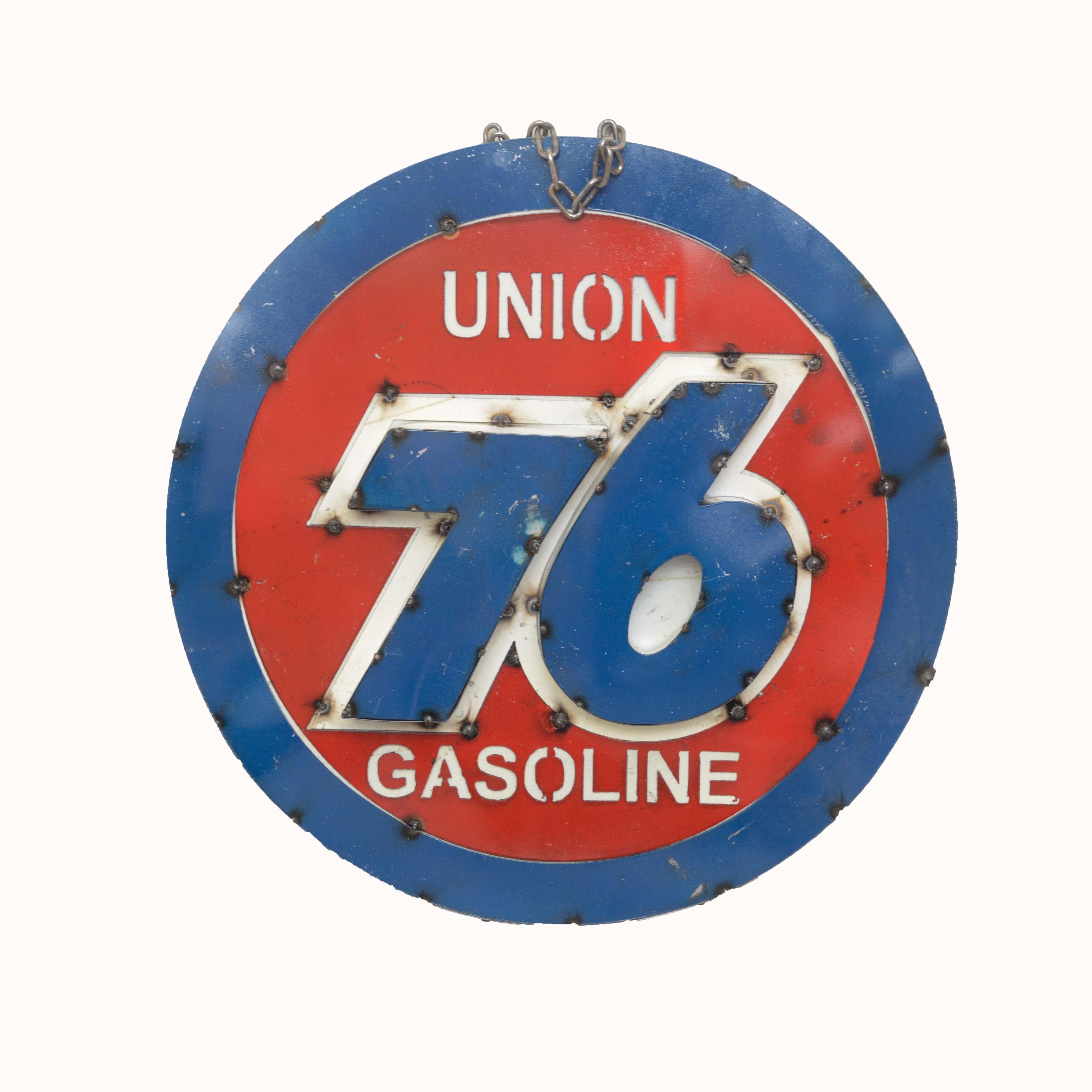 Union 76 Gasoline Three Dimensional Metal Advertising Sign