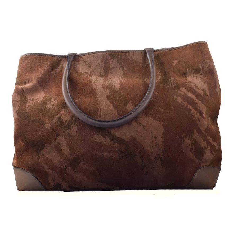 3c7462eb5dc1 Bottega Veneta Camouflage Suede and Leather Tote Bag   EBTH