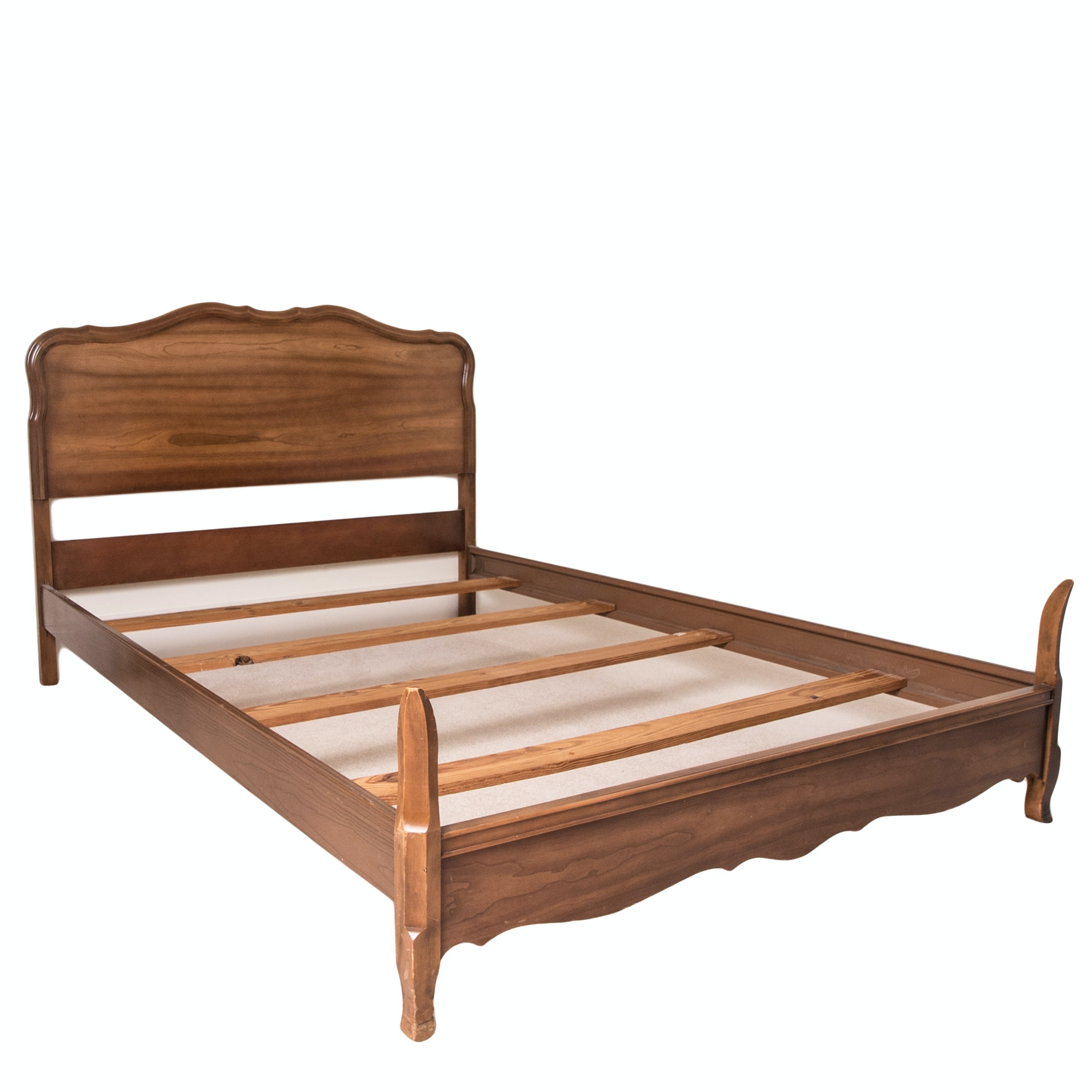 French Provincial Maple Full Size Bed Frame