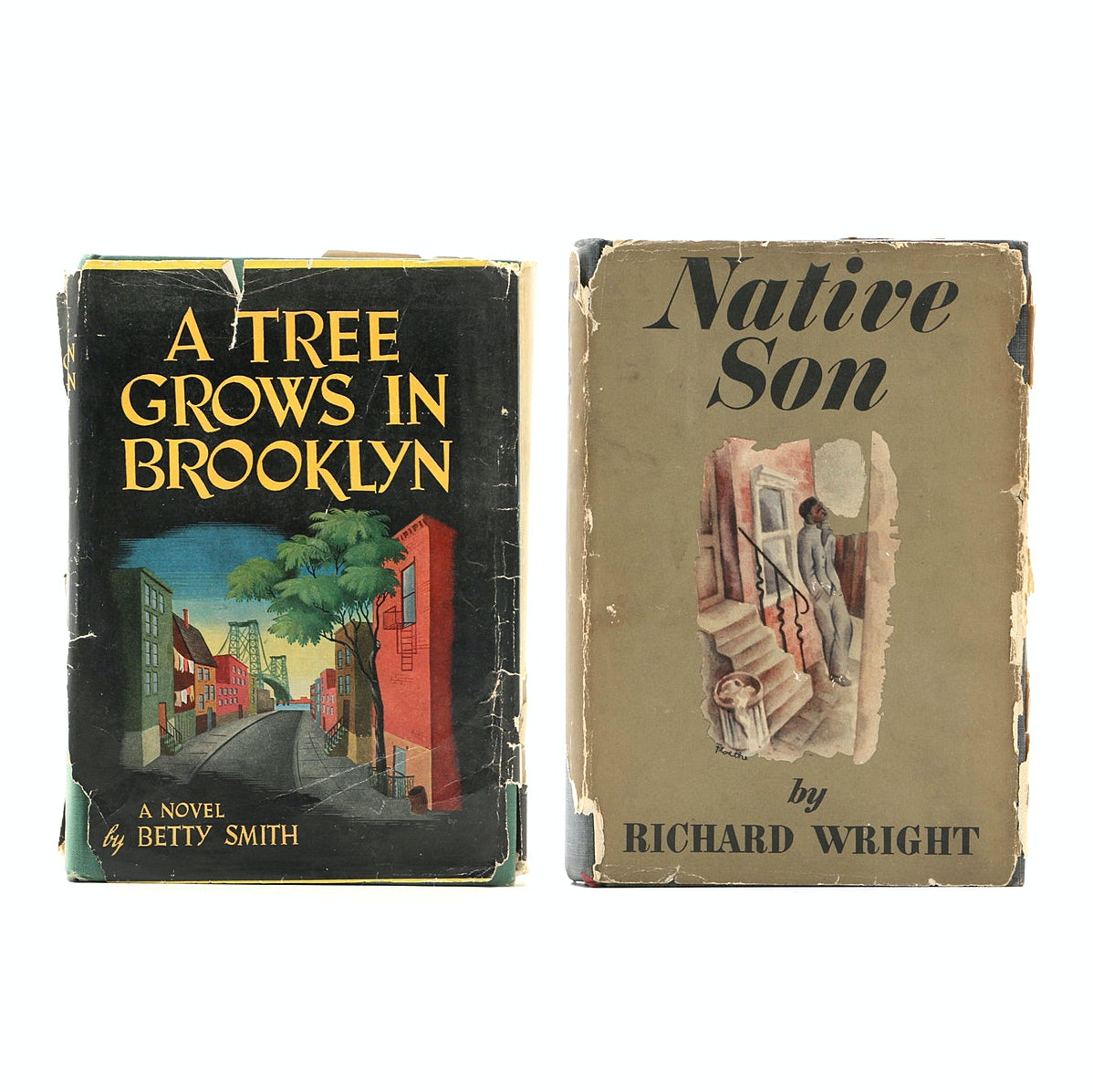 """1940s Book Club Editions of """"A Tree Grows in Brooklyn"""" and """"Native Son"""""""