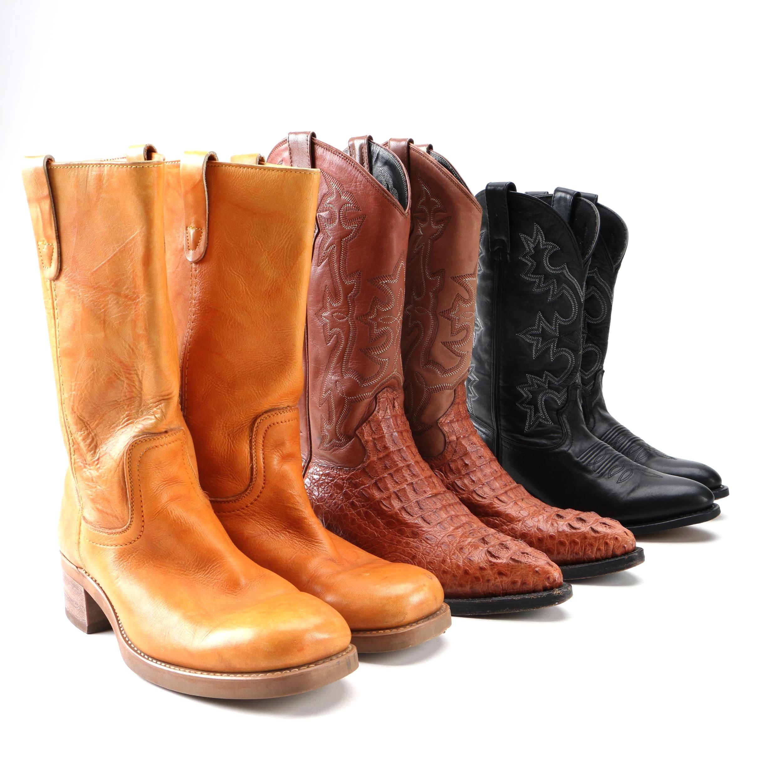 Men's Western Boots Including Alligator Skin