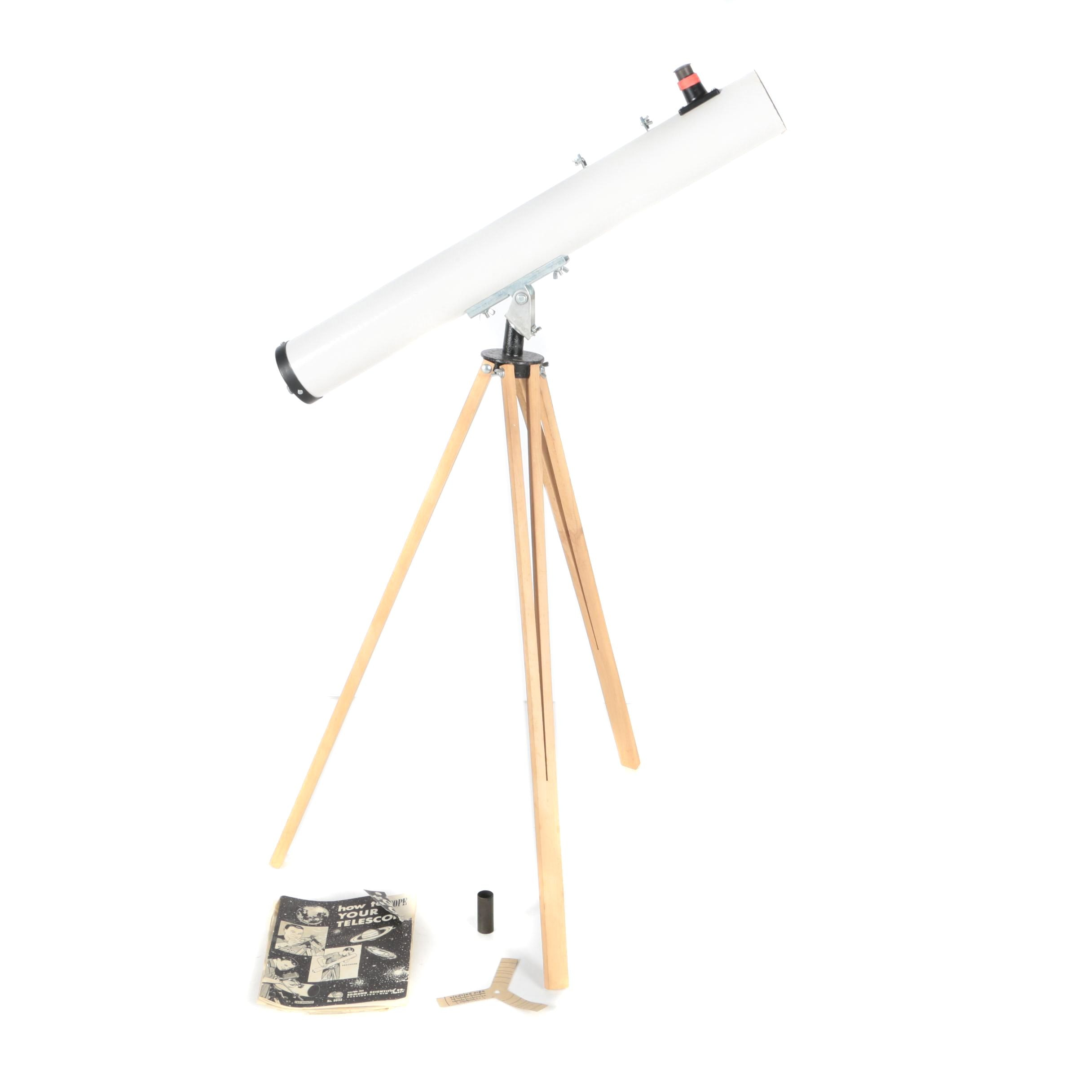 Vintage Edmund Scientific Company Reflector Telescope With Tripod
