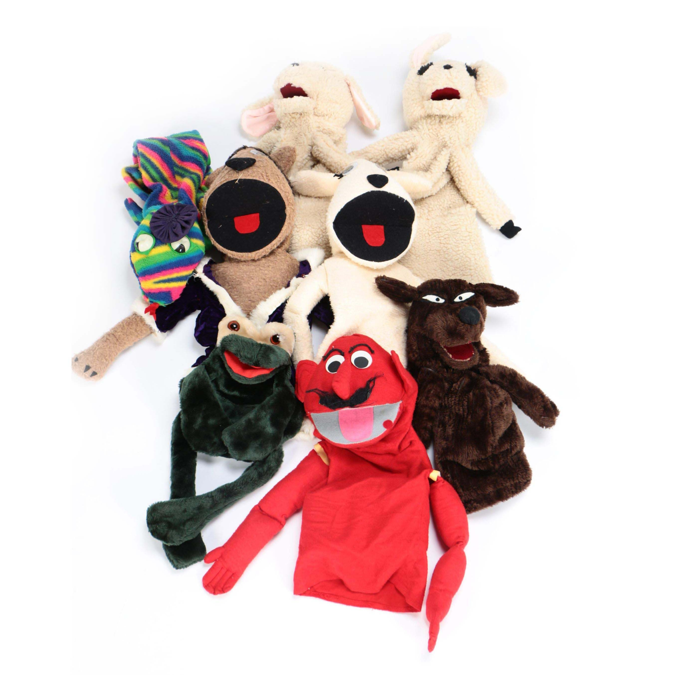 Vintage Animal Hand Puppets