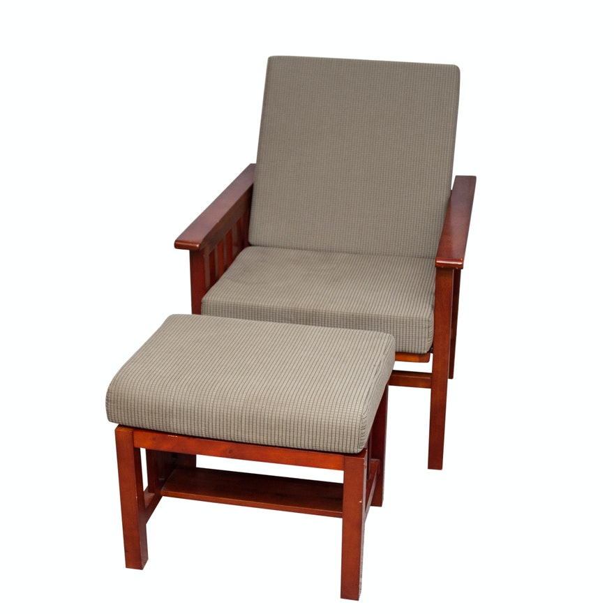 Stupendous Mission Style Chair And Ottoman Dailytribune Chair Design For Home Dailytribuneorg