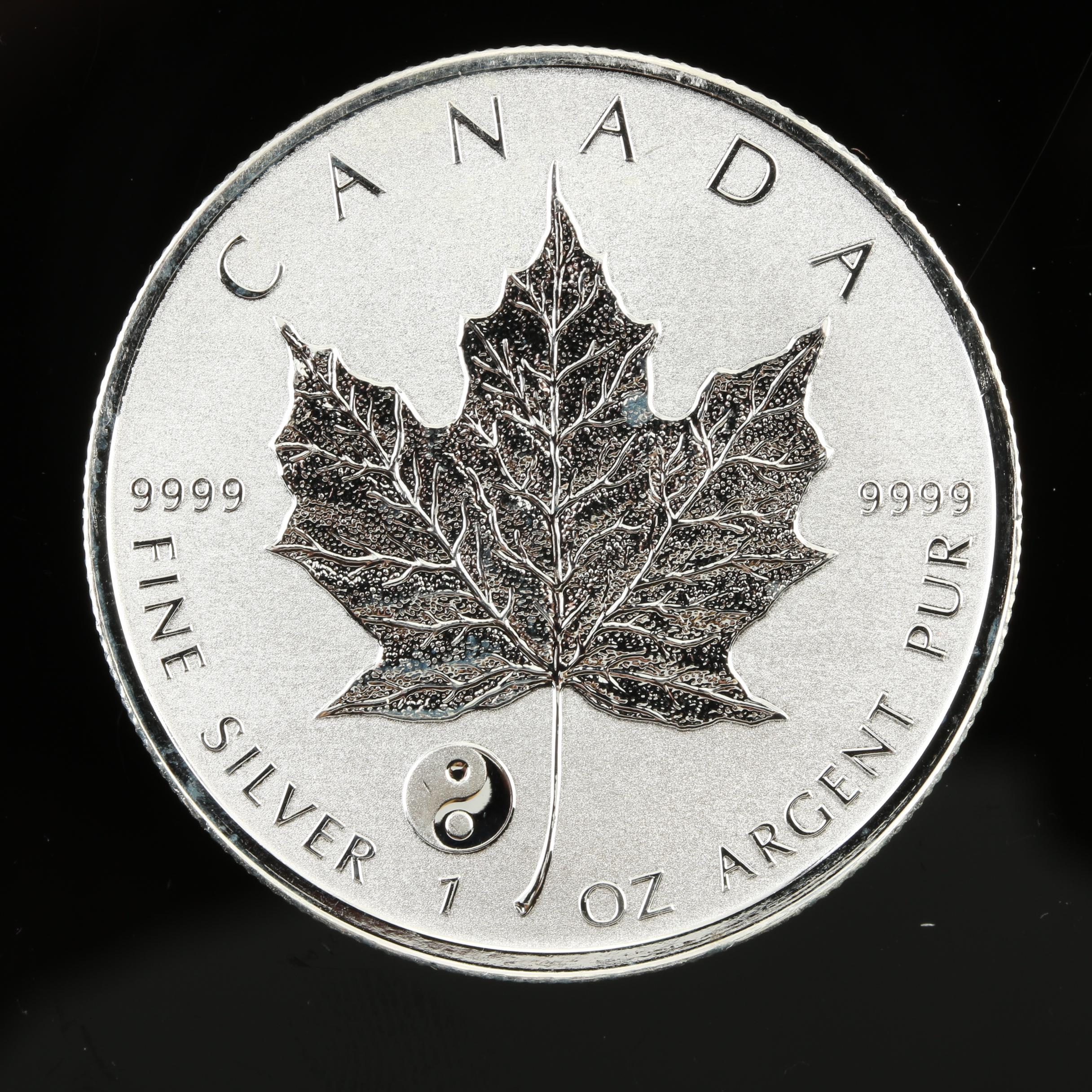 2016 1 oz YIN YANG Privy Canadian Silver Maple Leaf Reverse Proof Coin IN STOCK