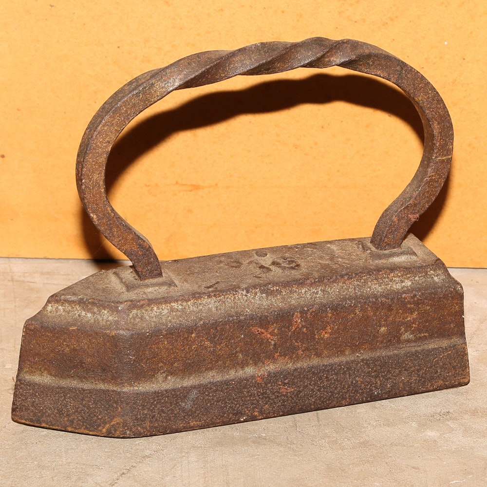 Vintage Cast Metal Iron