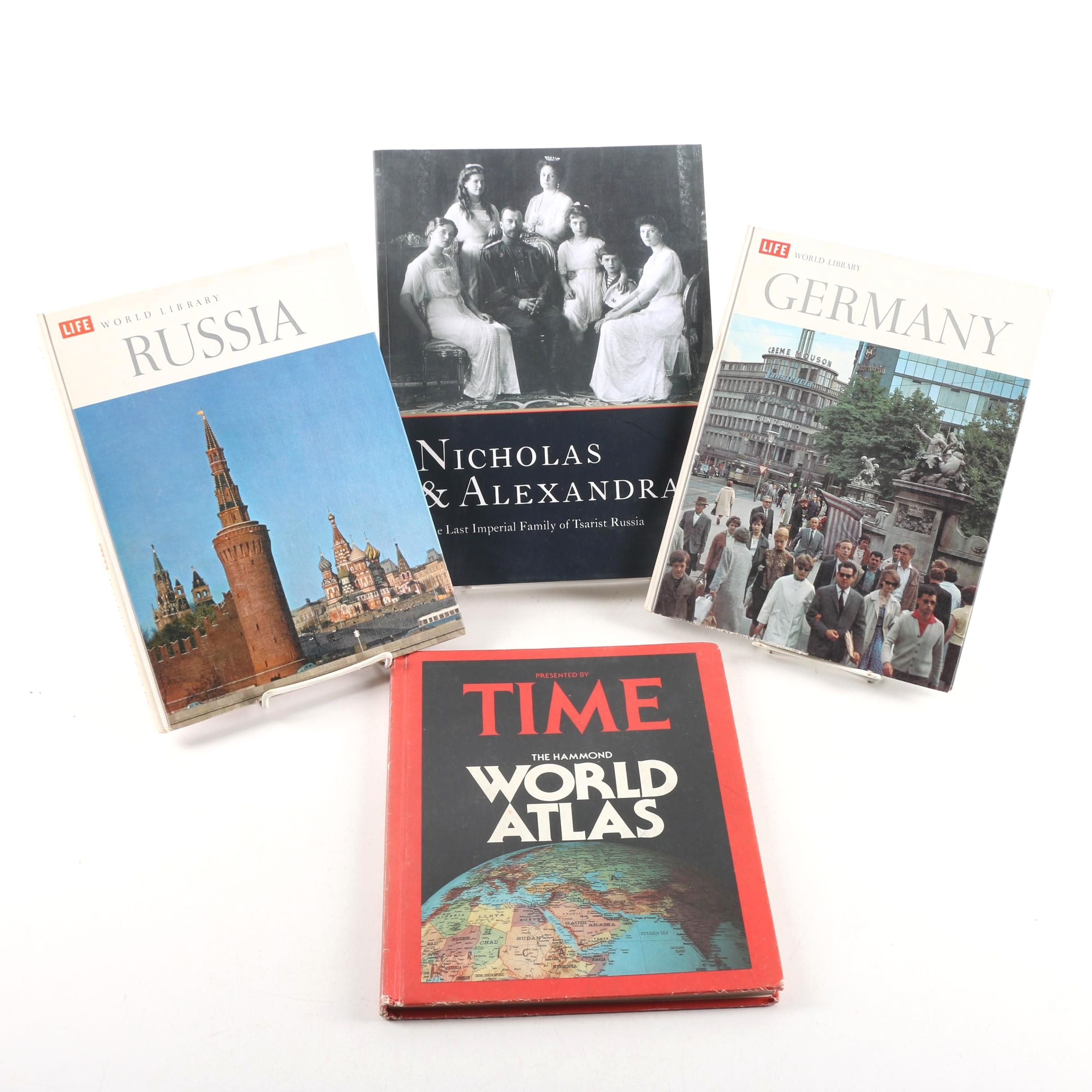 "Vintage Time Life Geography and History Books Including ""Nicholas & Alexandra"""