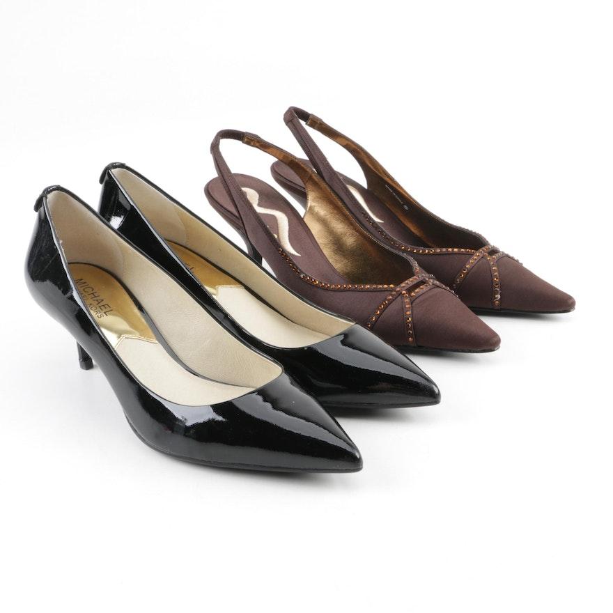 aa2fd7fbf0b MICHAEL Michael Kors Patent Leather Heels and Nina Satin Heels   EBTH