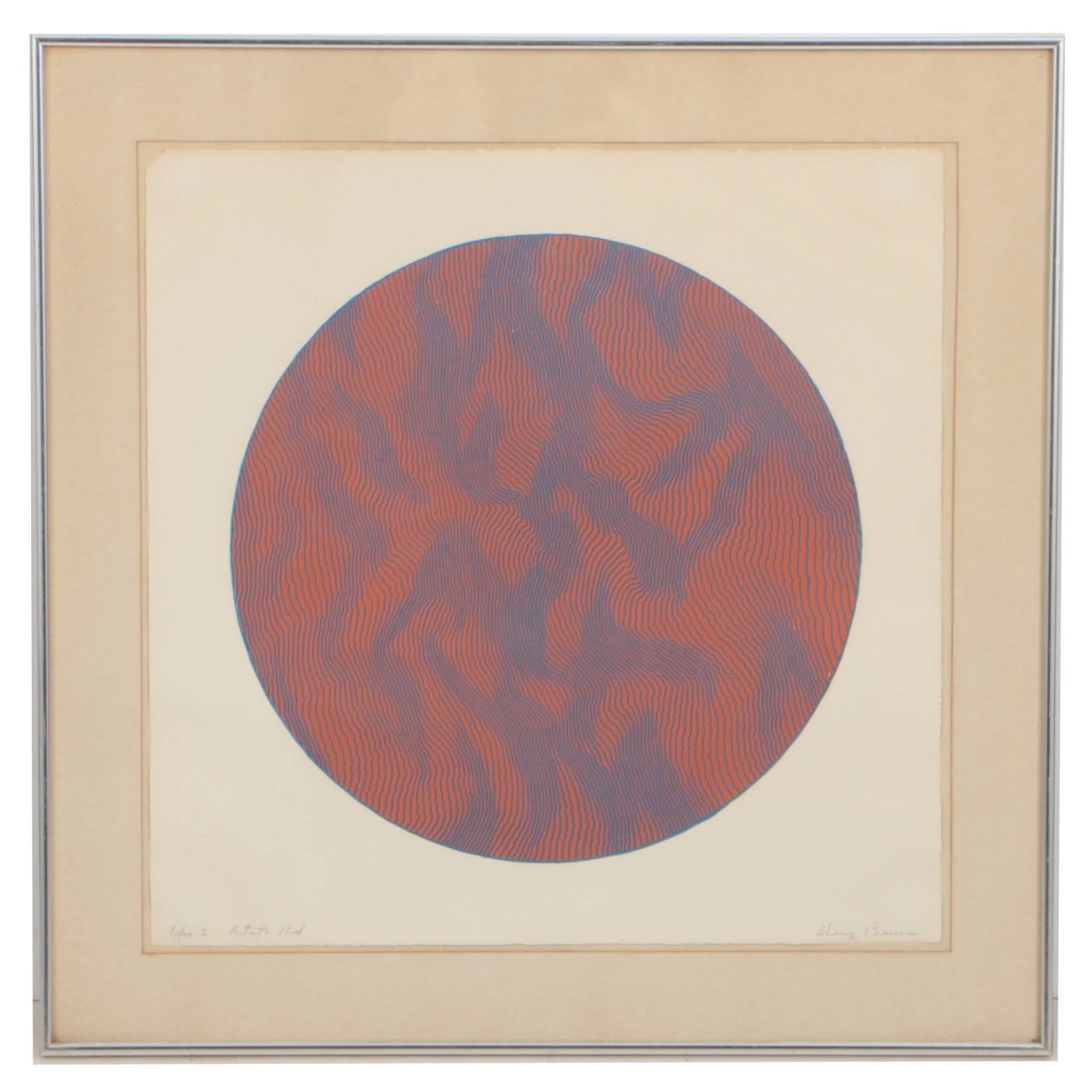 """Henry Pearson Artist's Proof Serigraph on Paper """"Orfeo II"""""""