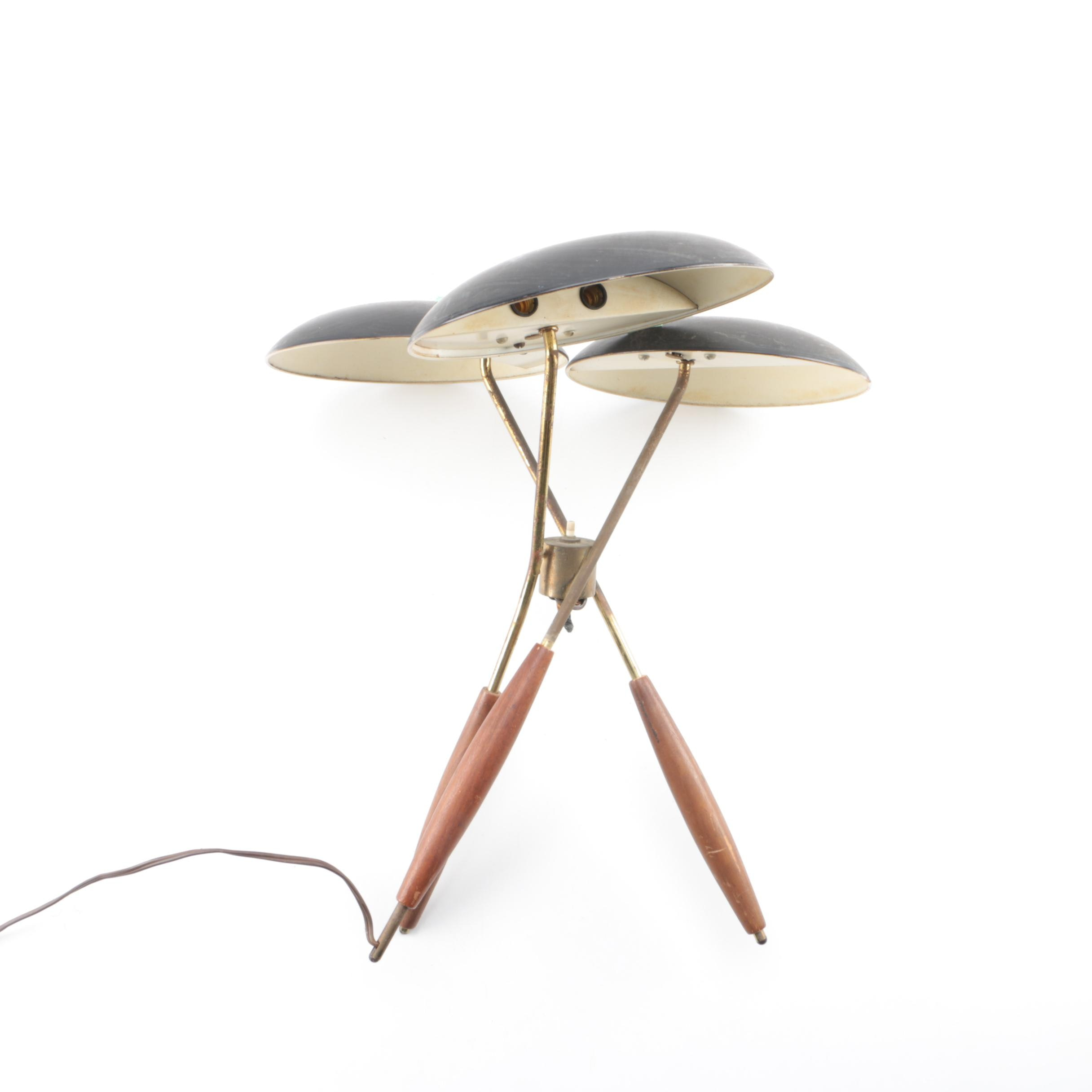Mid Century Modern Tripod Table Lamp By Gerald Thurston For Lightolier ...