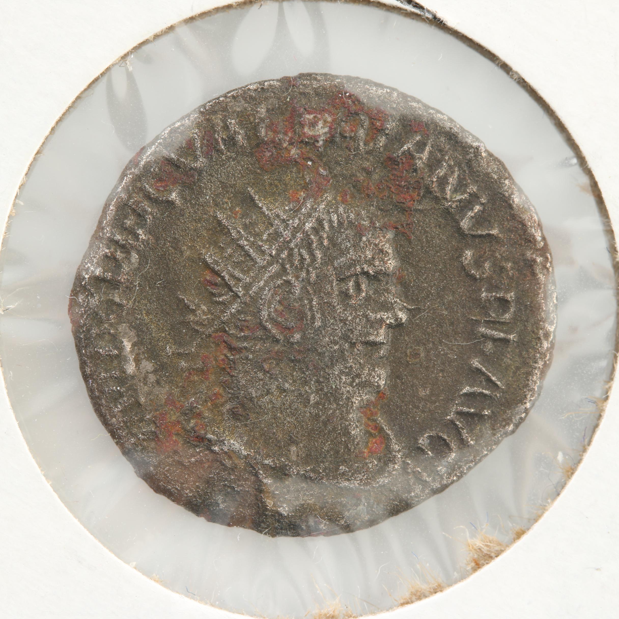 Ancient Roman Imperial Billon Double Denarius of Valerian I, ca. 253 AD