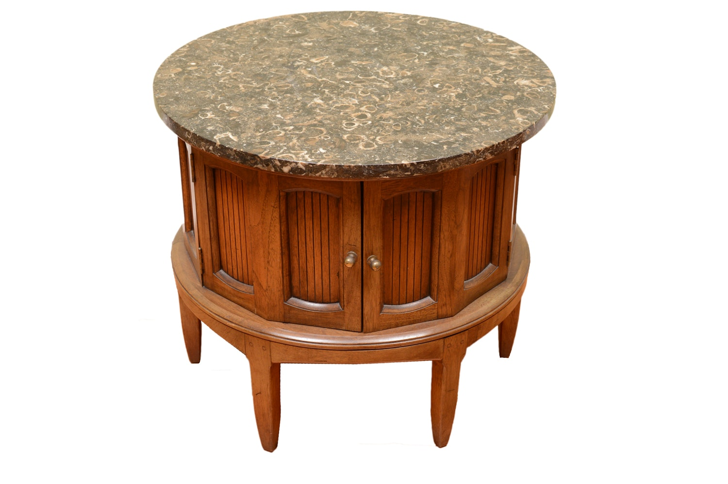 Stone Top Cabinet Side Table