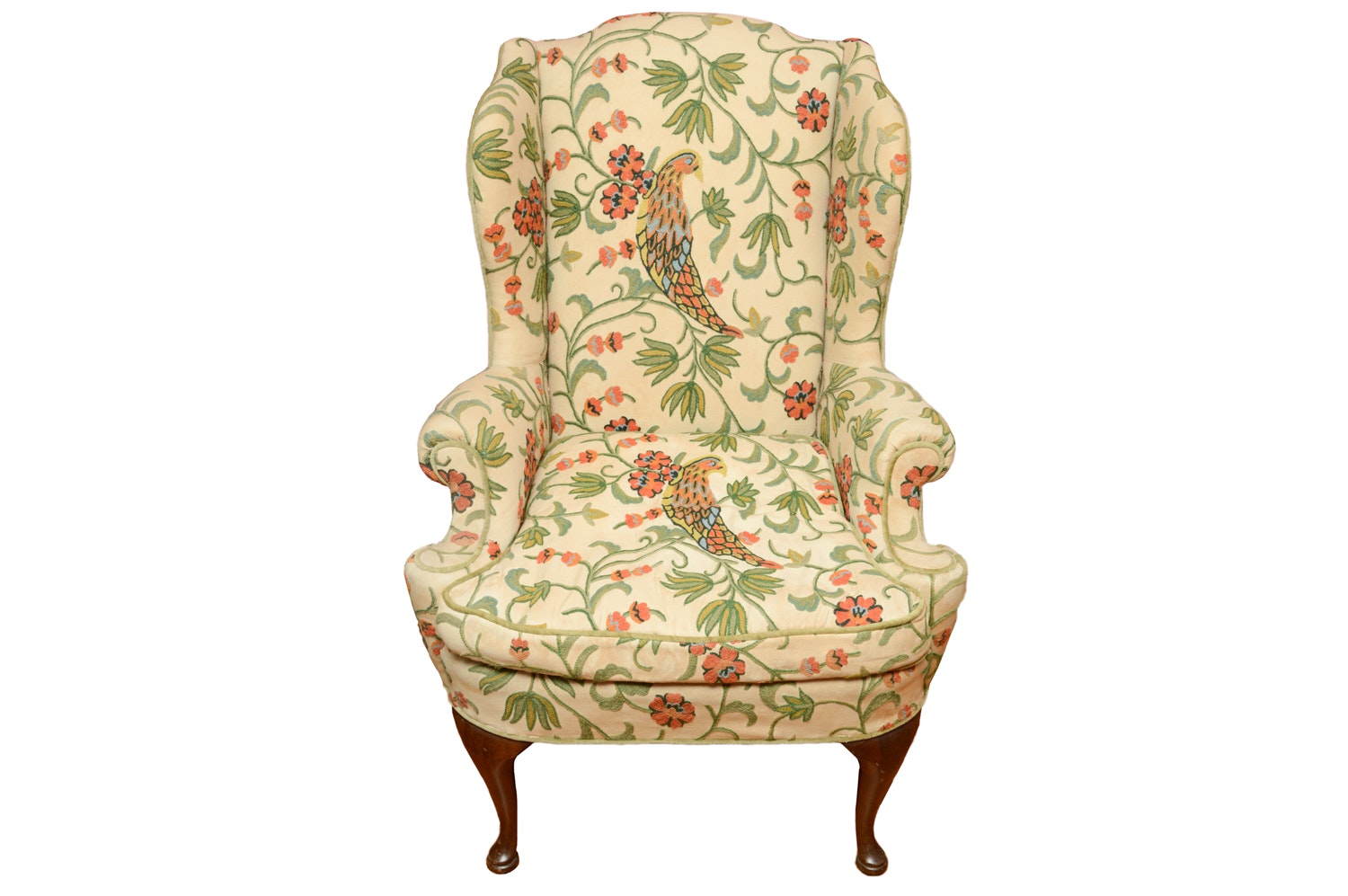 Vintage Upholstered Wingback Armchair by Marshall Field & Company