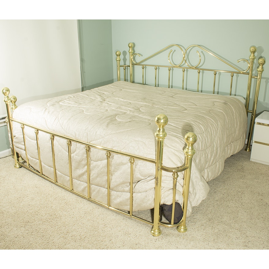 Brass King Size Bed Frame : EBTH