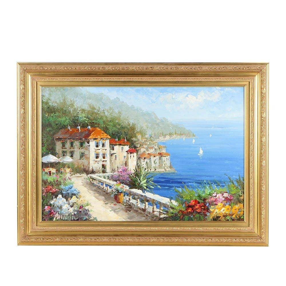 Antonio Late 20th Century Oil Painting