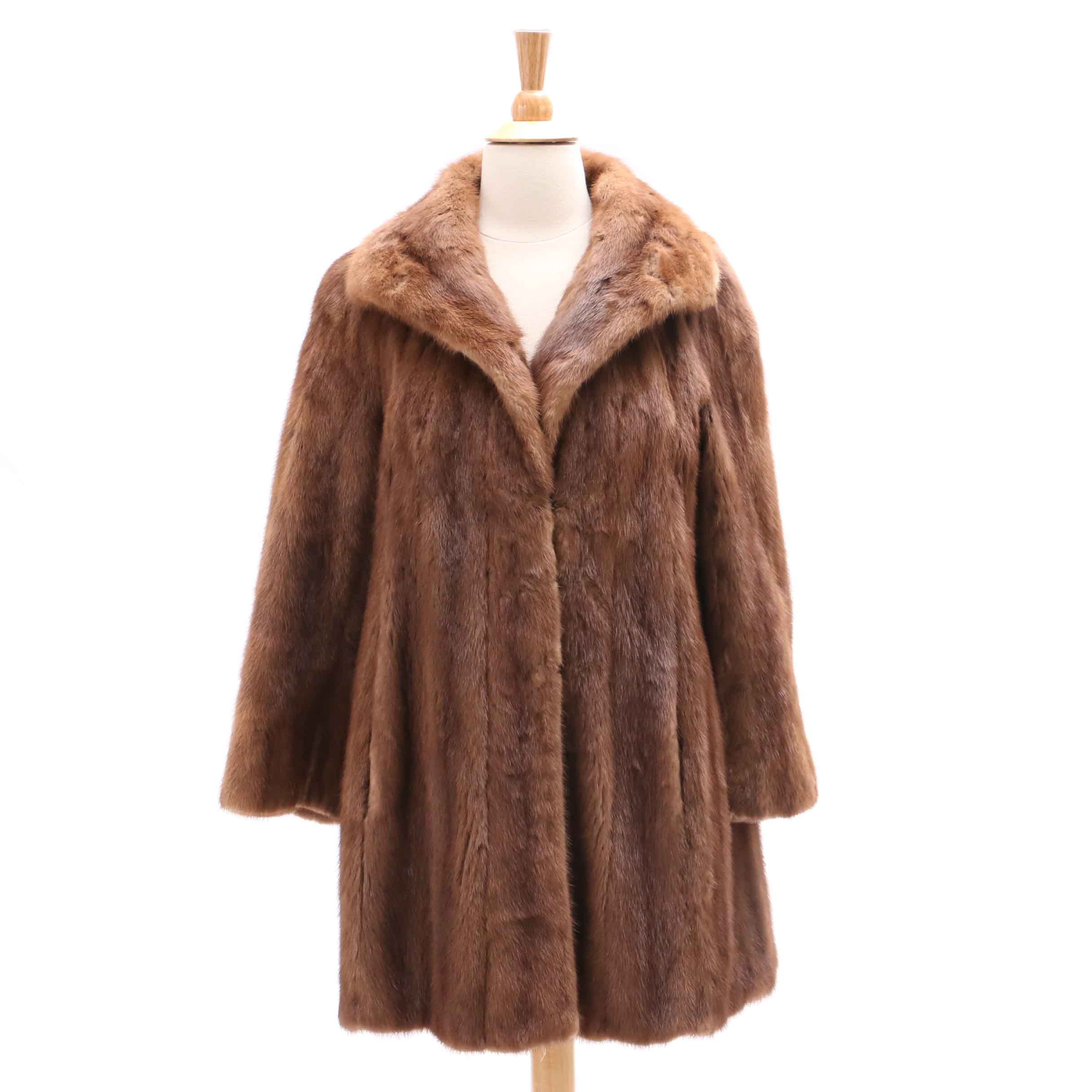 Women's Vintage John Anthony Mink Fur Coat from Garfinckel's