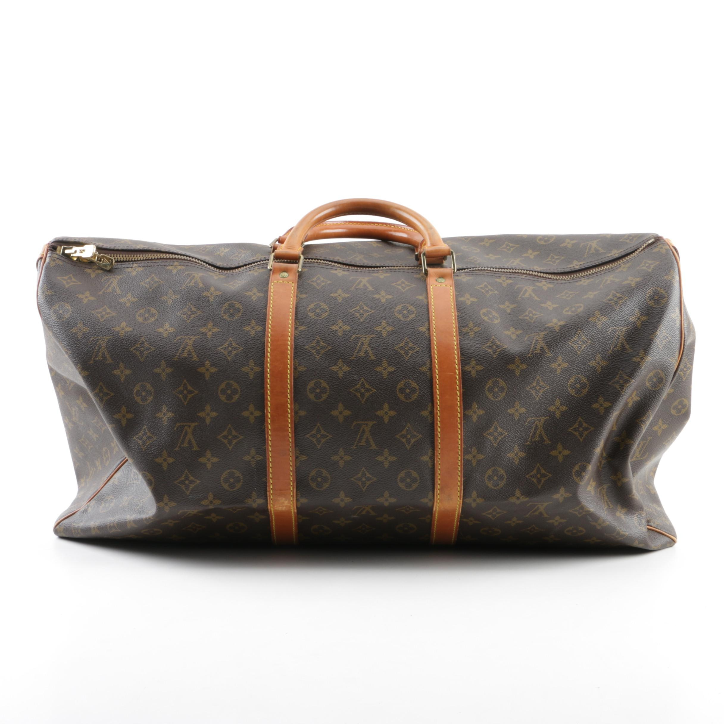 Vintage Louis Vuitton of Paris Signature Monogram Canvas Keepall Duffle Bag