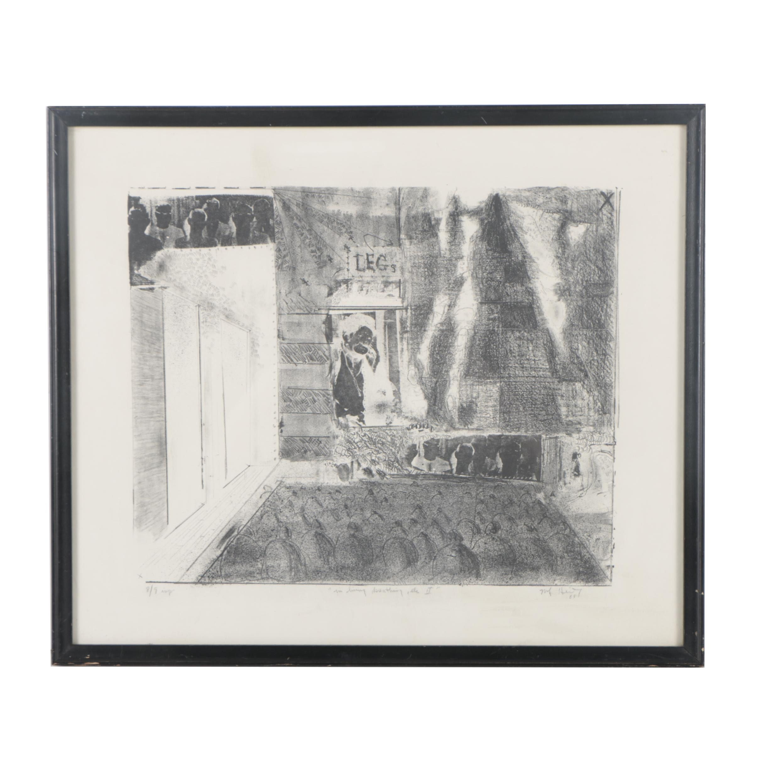 "Limited Edition Lithograph ""In Living, breathing, etc. II"""
