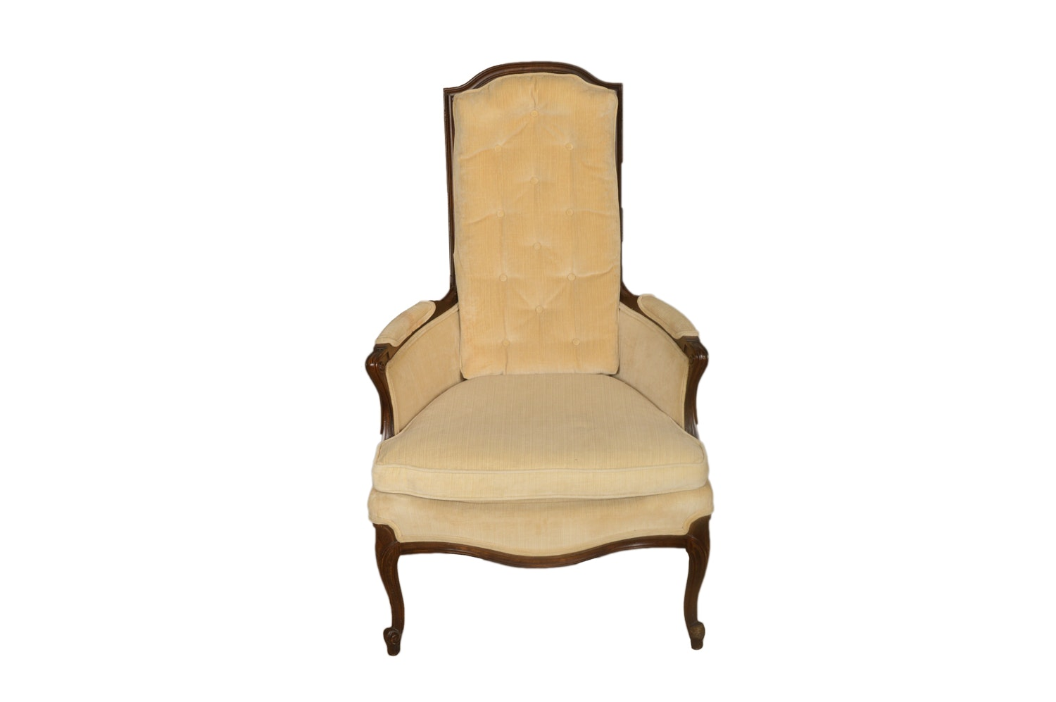 High Back French Provincial Style Armchair