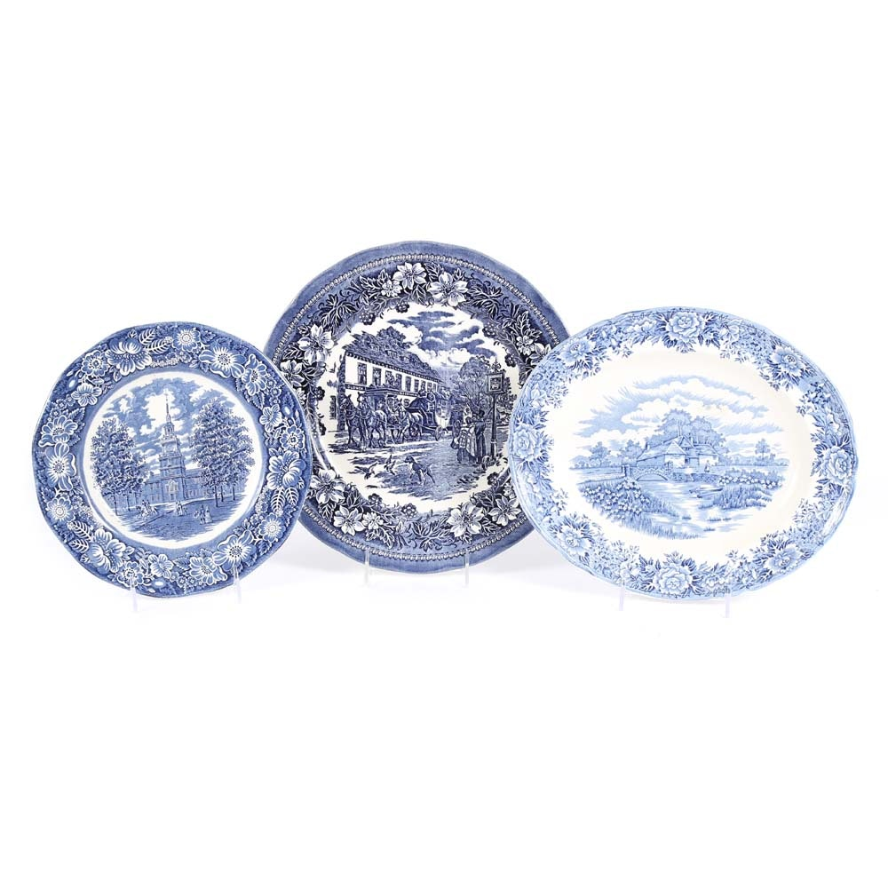 Blue and White Ironstone by Olde Staffordshire