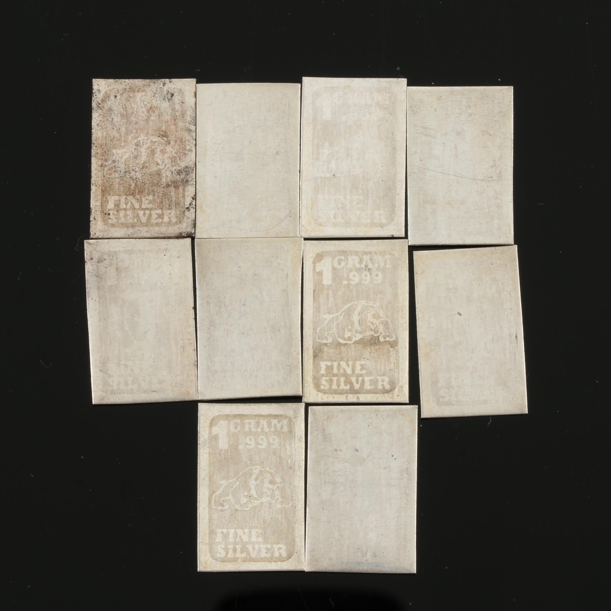 Ten 1-Gram Fine Silver Ingots