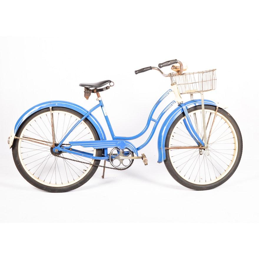 Circa 1950 Schwinn Cruiser Style Bicycle