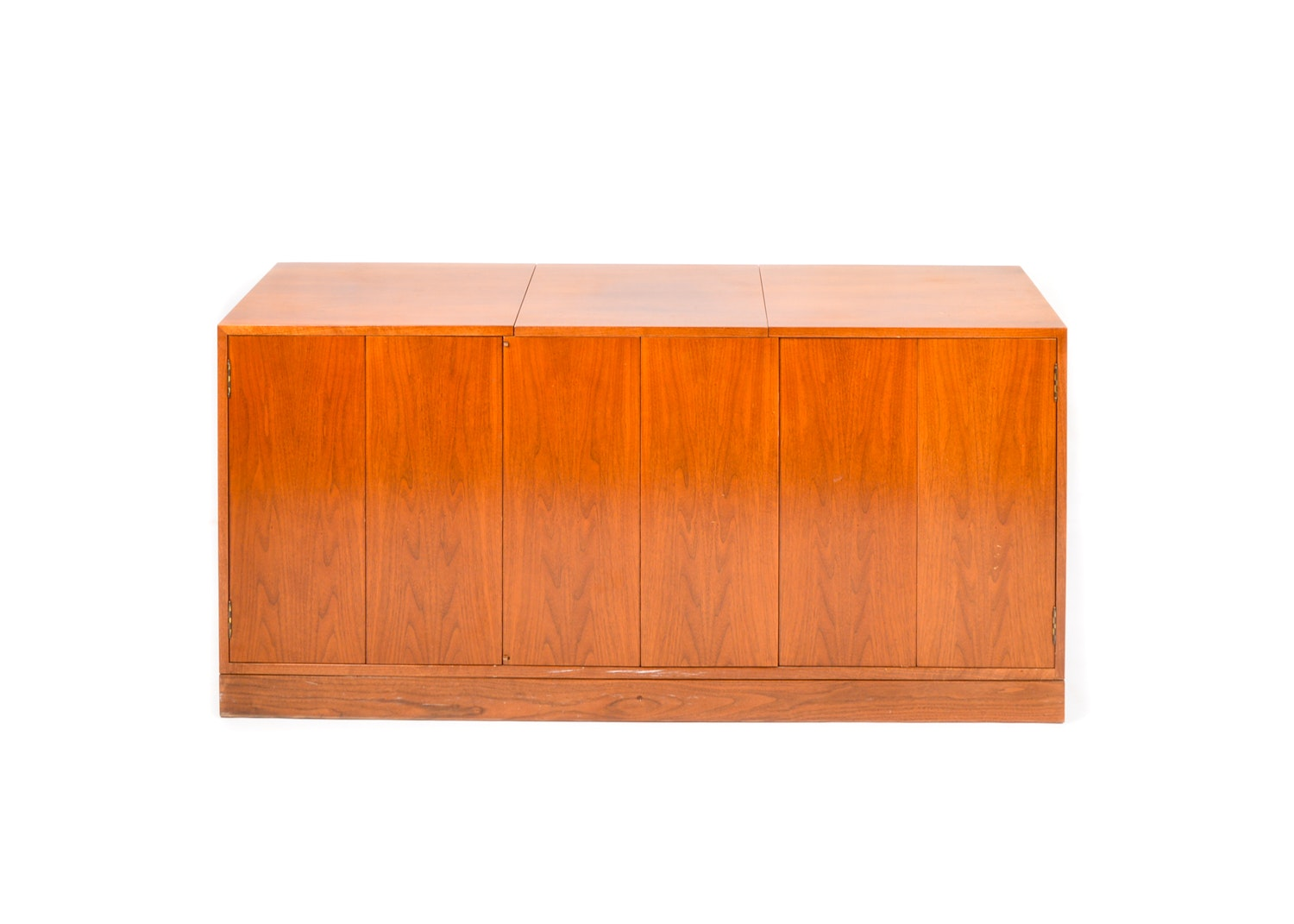 Danish Modern Style Teak Record and Stereo Cabinet