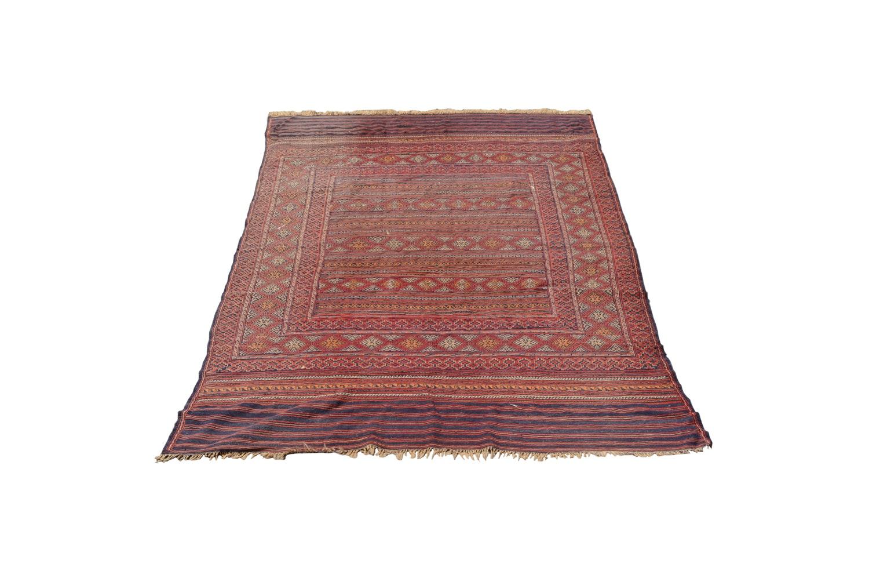 Vintage Handwoven Baluch Wool Area Rug