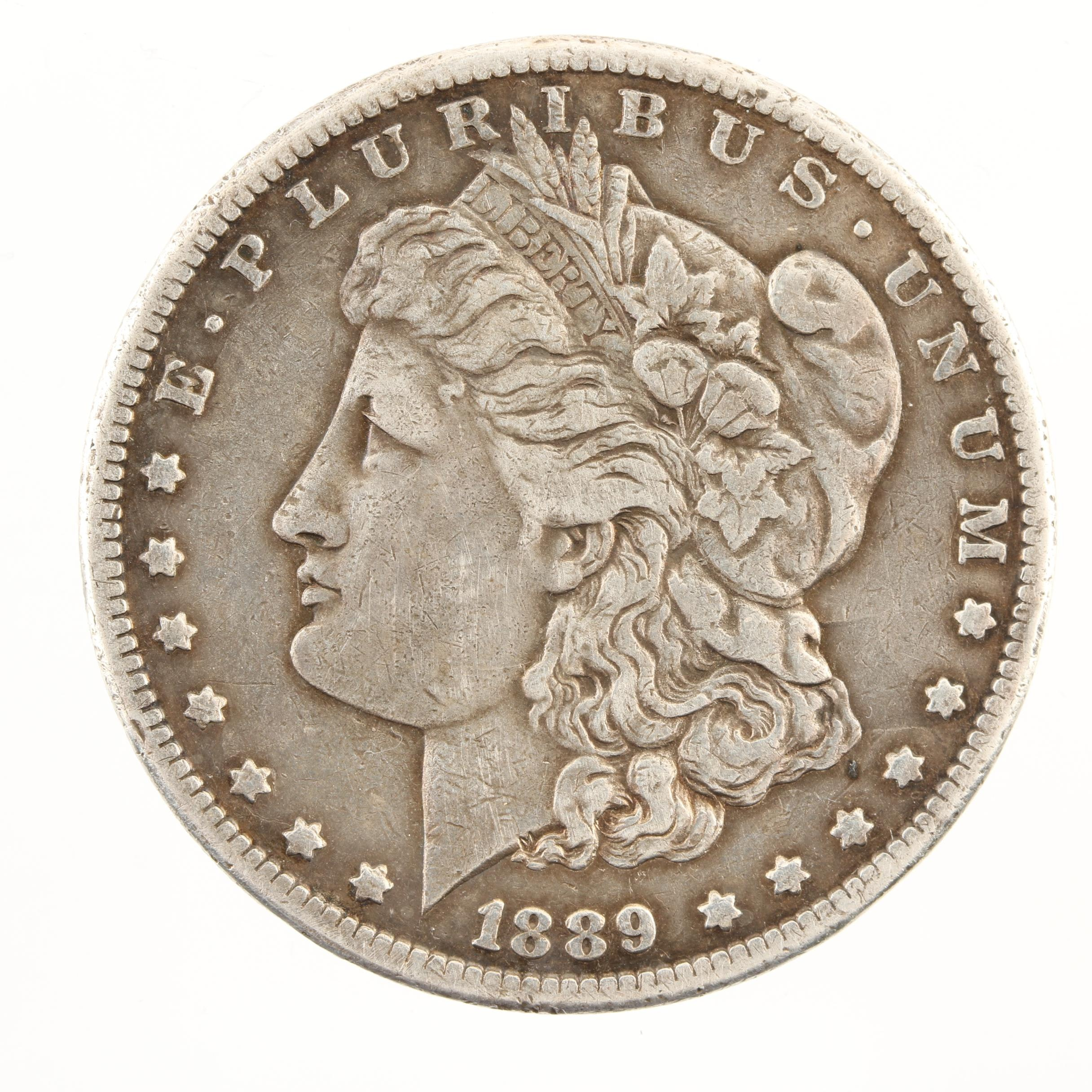 Key Date Low Mintage 1889-CC Morgan Silver Dollar
