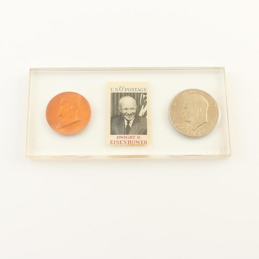 Eisenhower Coin And Stamp Set EBTH