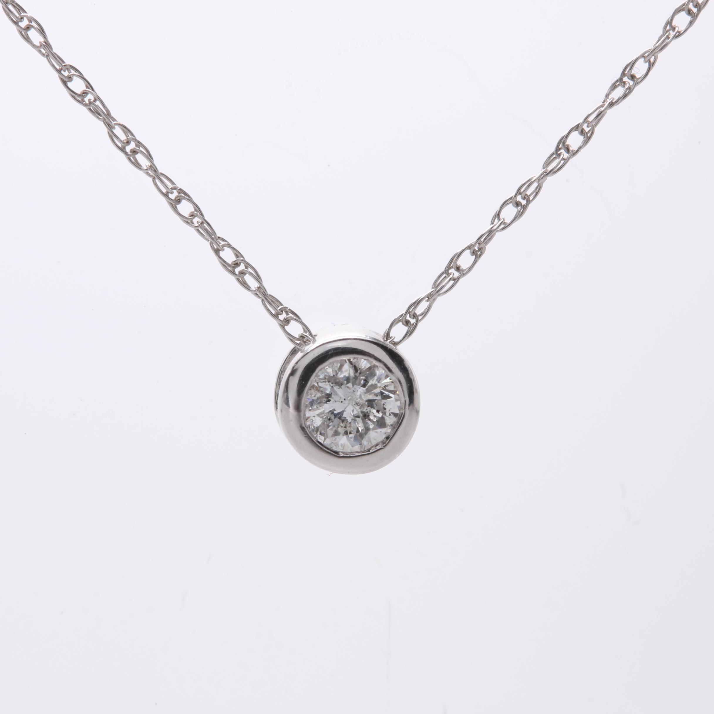 Platinum Diamond Pendant Necklace