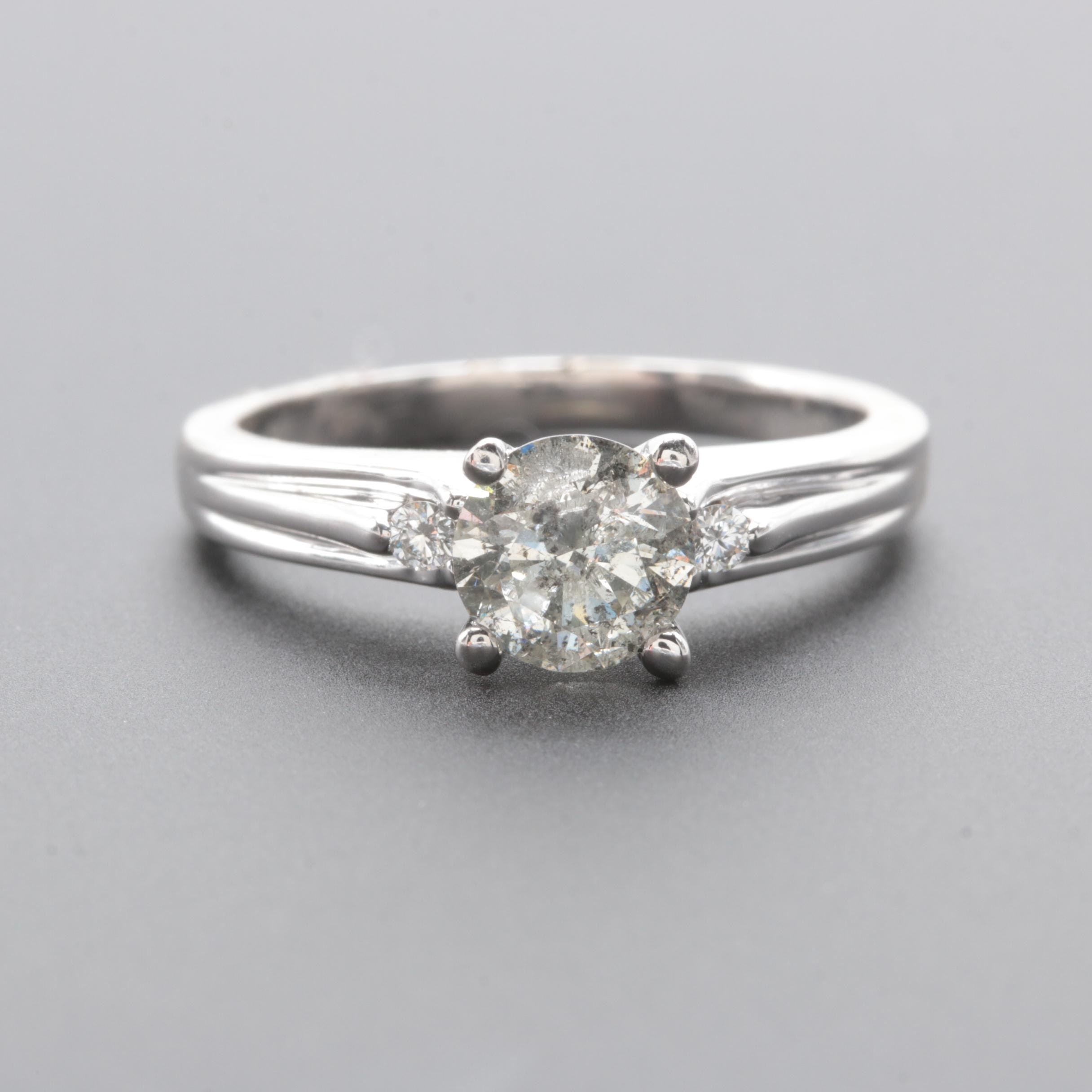 14K White Gold 1.13 CTW Diamond Ring