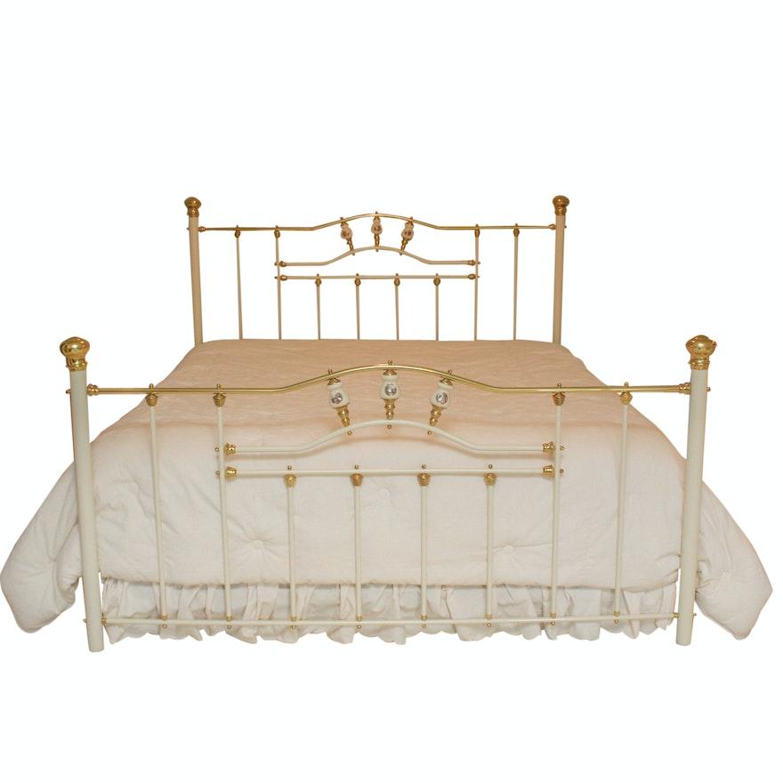 Vintage Brass Metal King Size Bed Frame : EBTH