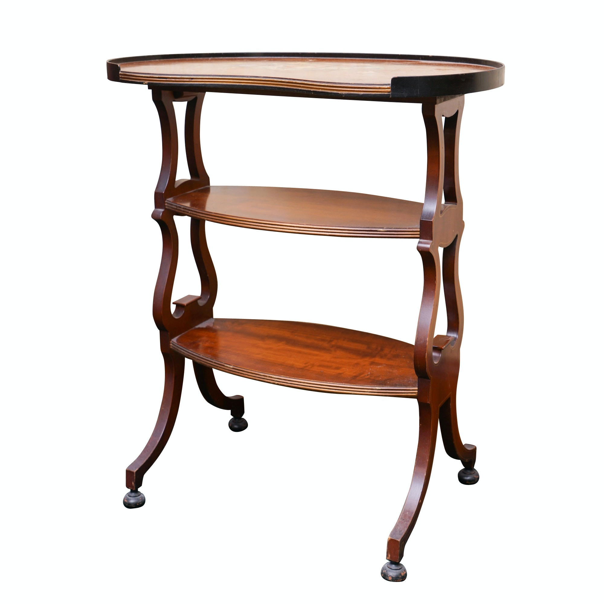 Vintage Federal Style Three-Tier Accent Table by Raymond Fallona