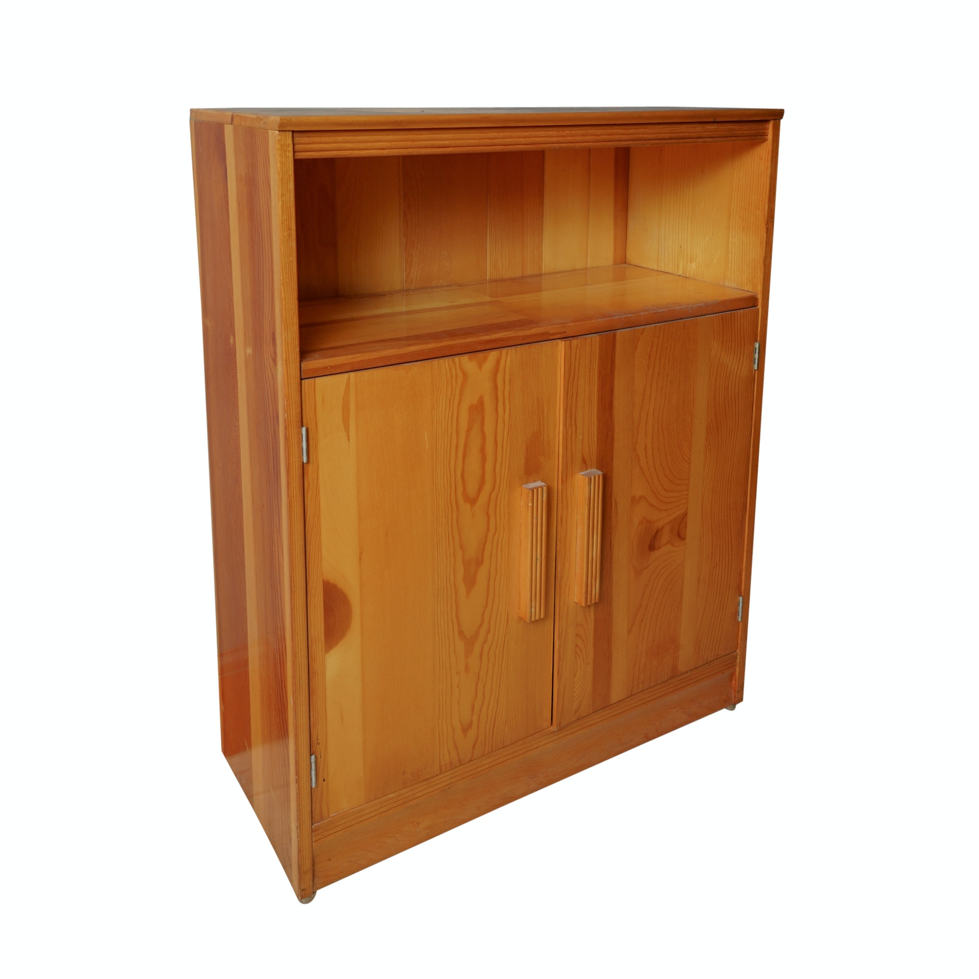 Contemporary Mixed Wood Cabinet