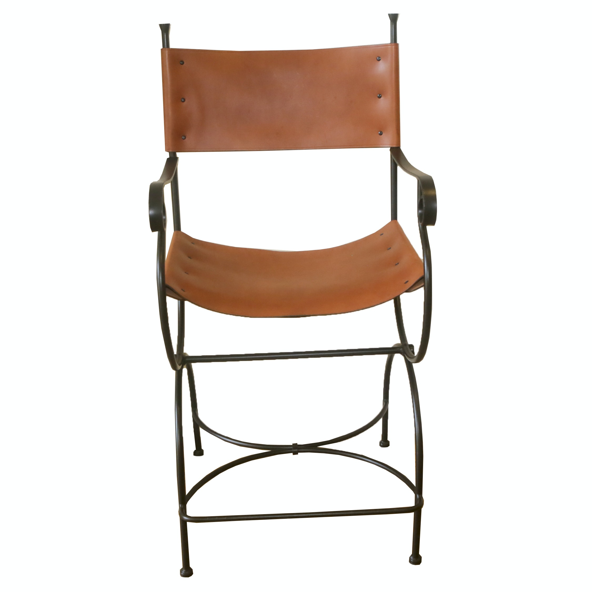 Charmant Leather Directoru0027s Chair Barstool ...