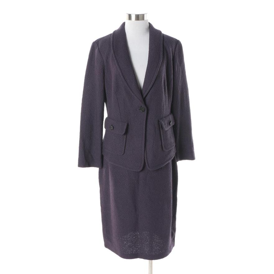 Women s St. John Couture Plum Knit Skirt Suit   EBTH 7c61c0917