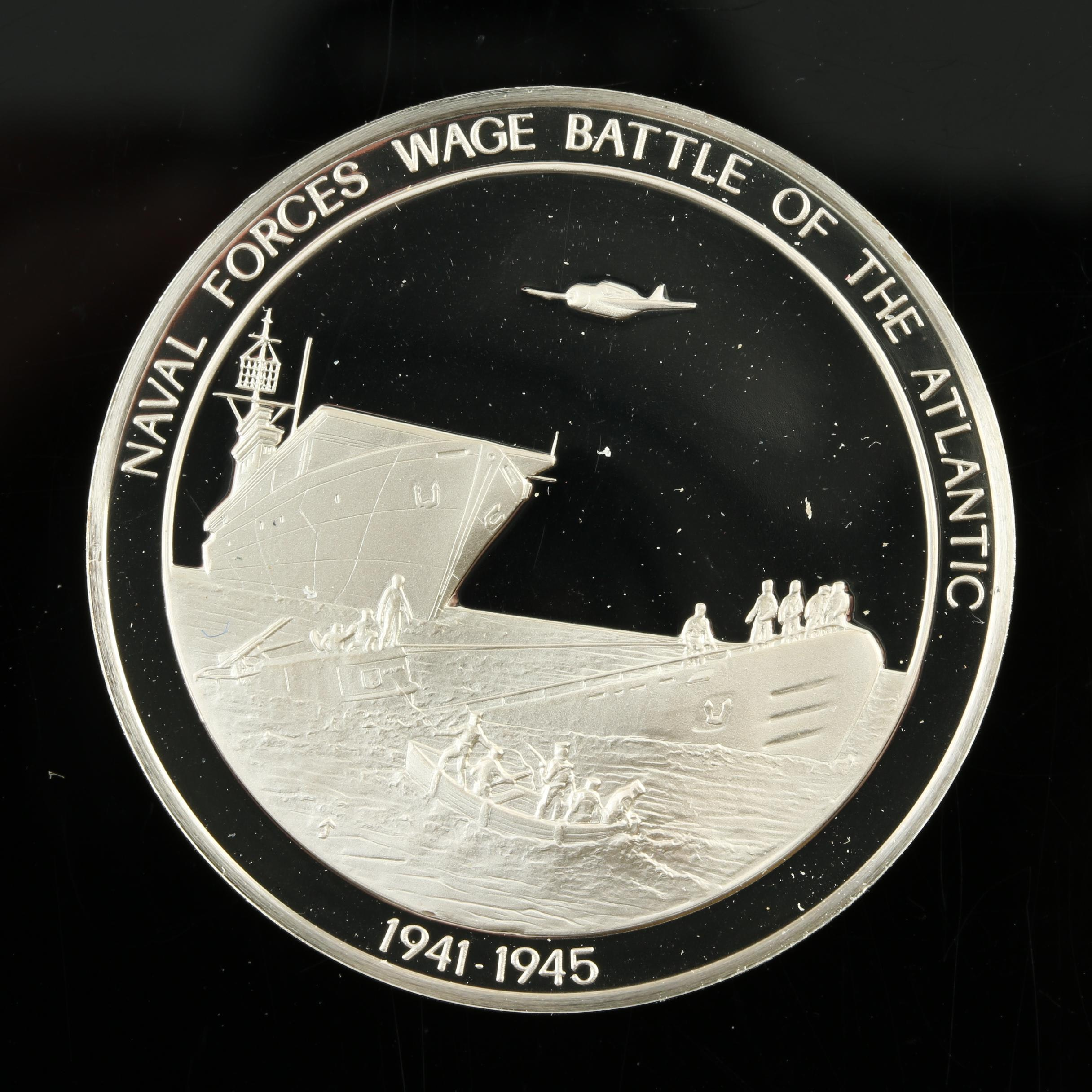 Sterling Silver Medal Commemorating the Naval Forces Battles of the Atlantic