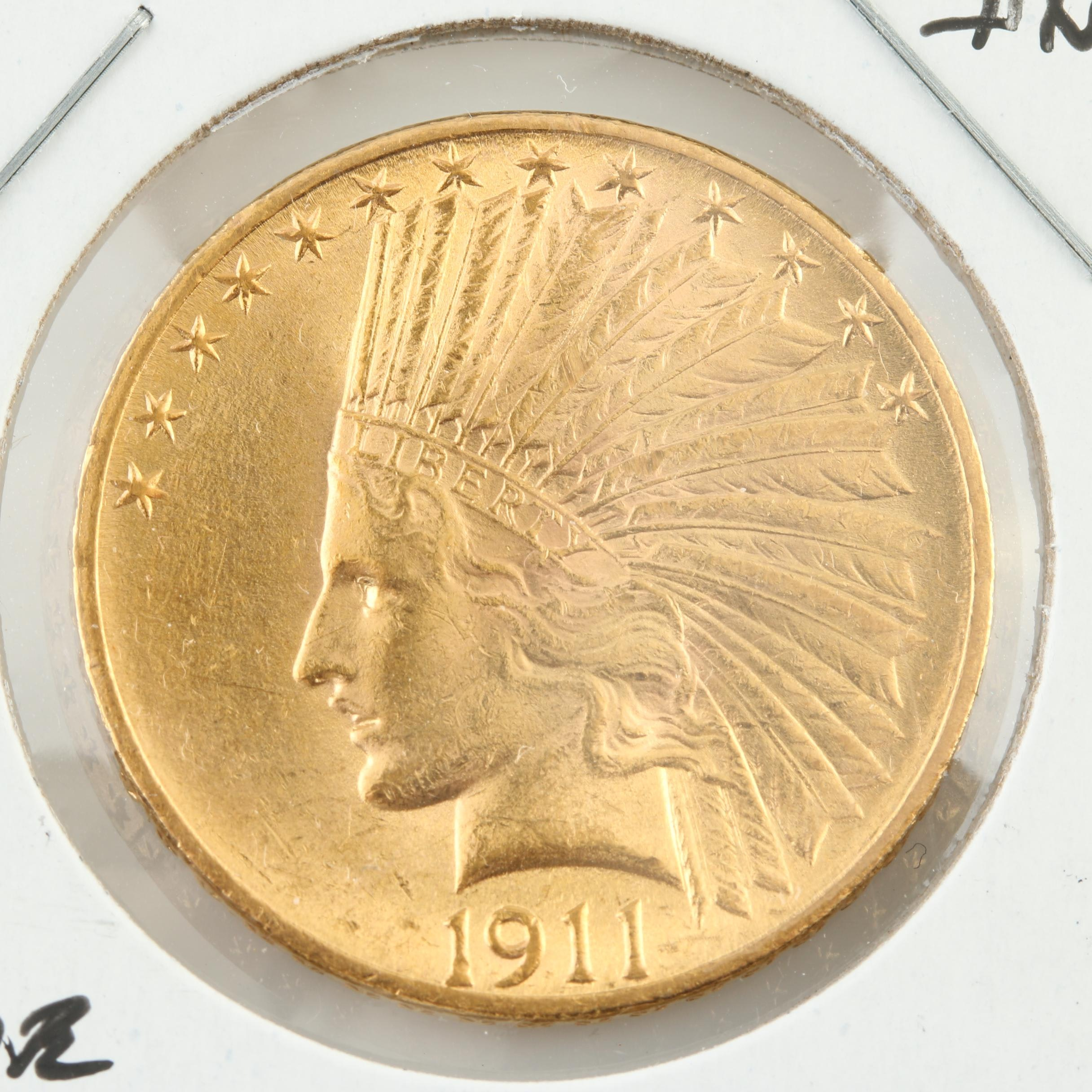 1911 Indian Head $10 Gold Coin
