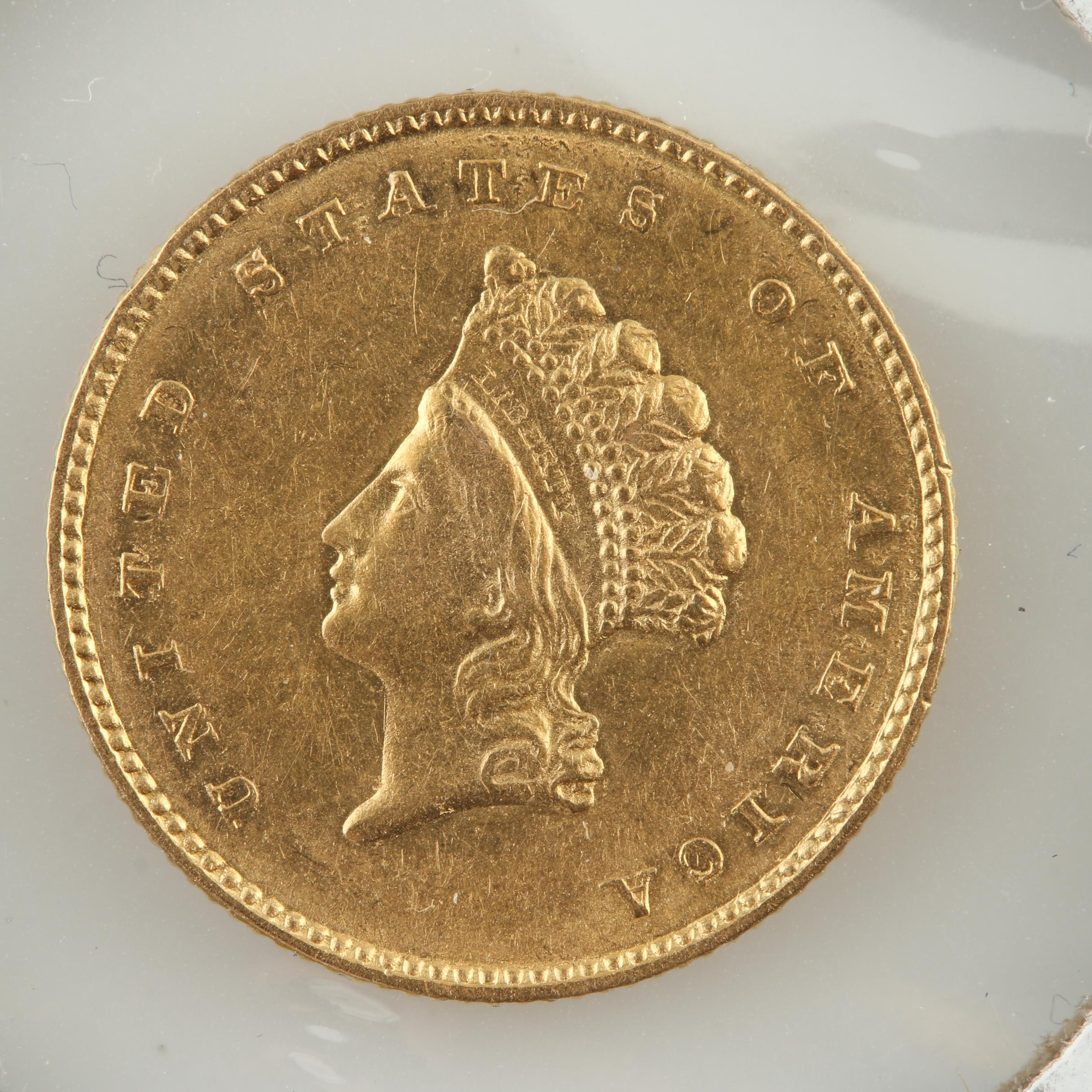 Type II 1854 Indian Head Princess $1 Gold Coin