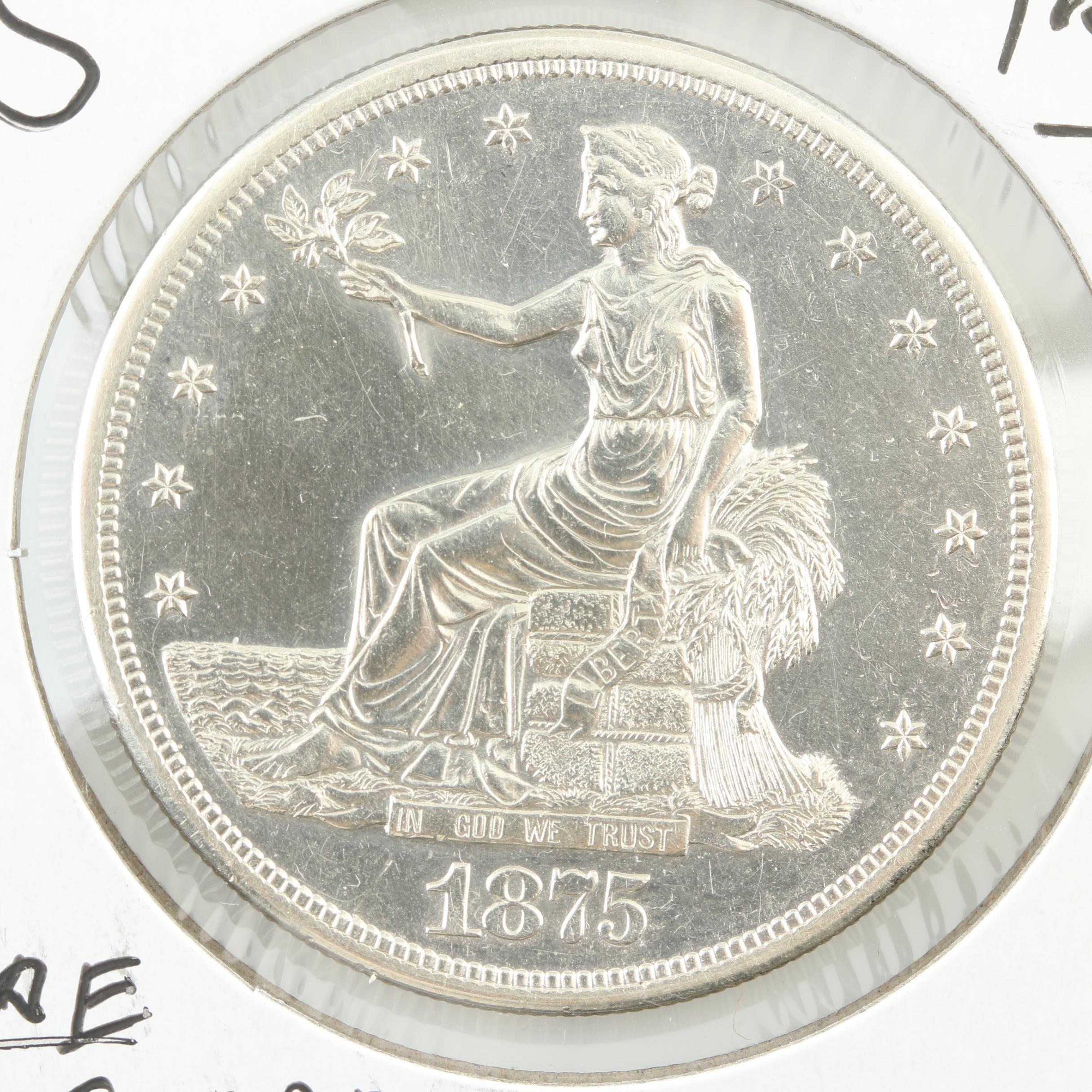 1875-S Silver Trade Dollar
